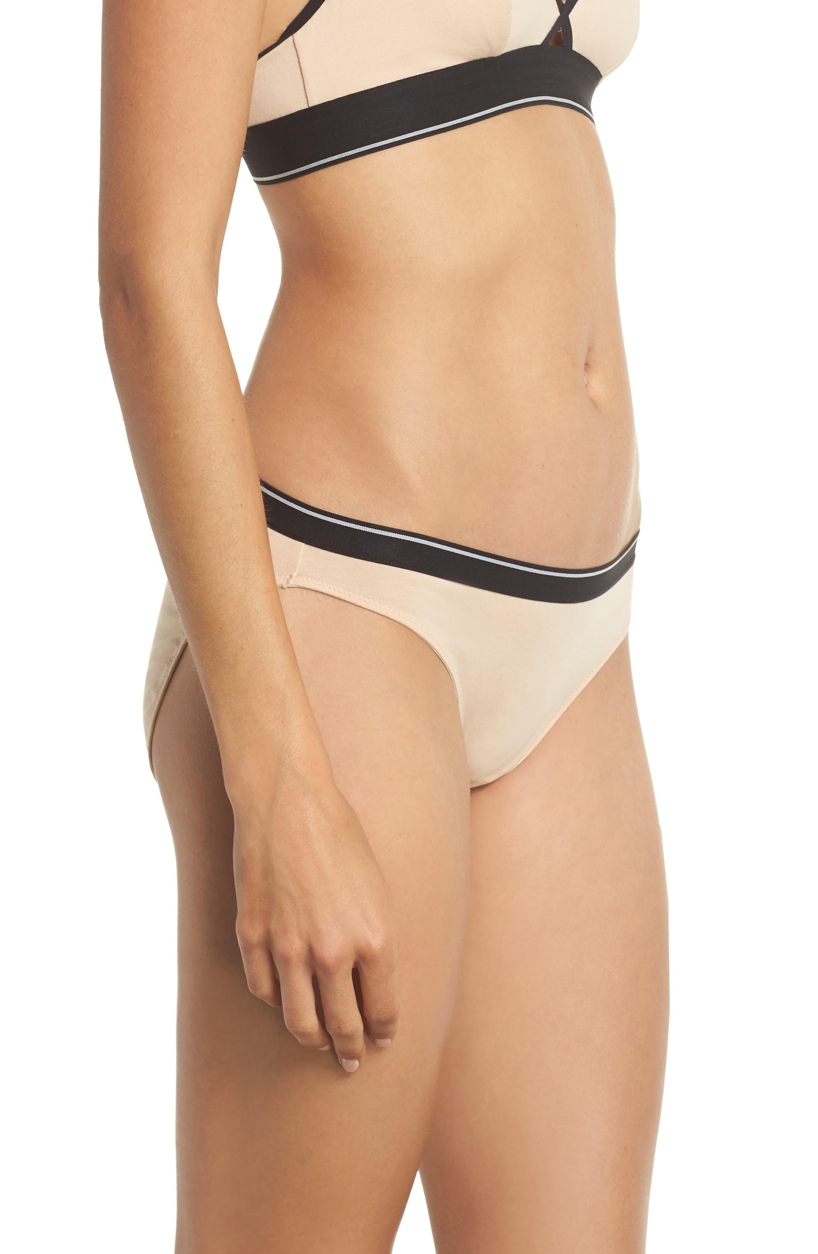Stripe Bikini,                             Alternate thumbnail 3, color,                             Tawny Sand