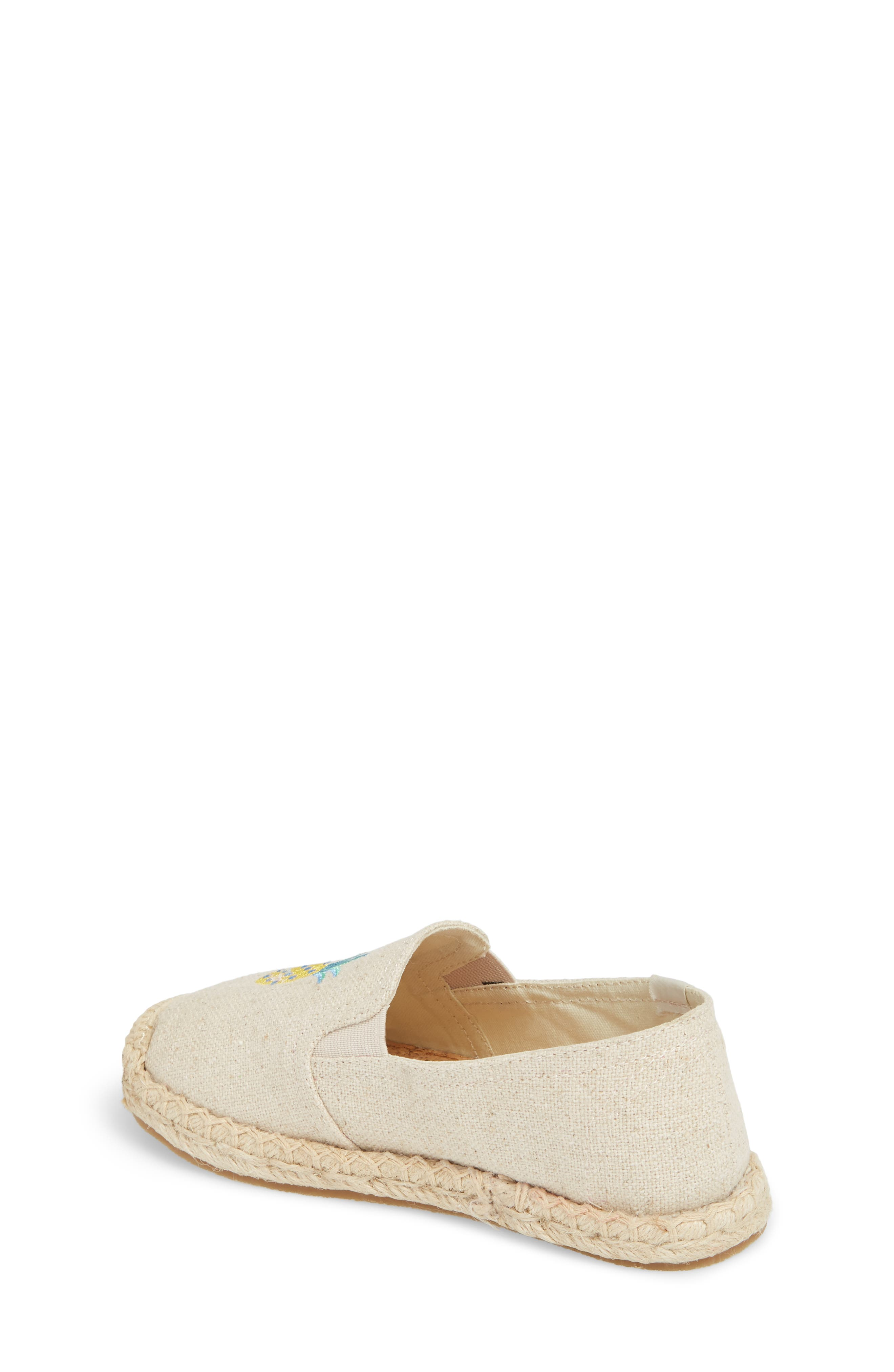 Pineapple Embroidered Espadrille,                             Alternate thumbnail 2, color,                             Sand
