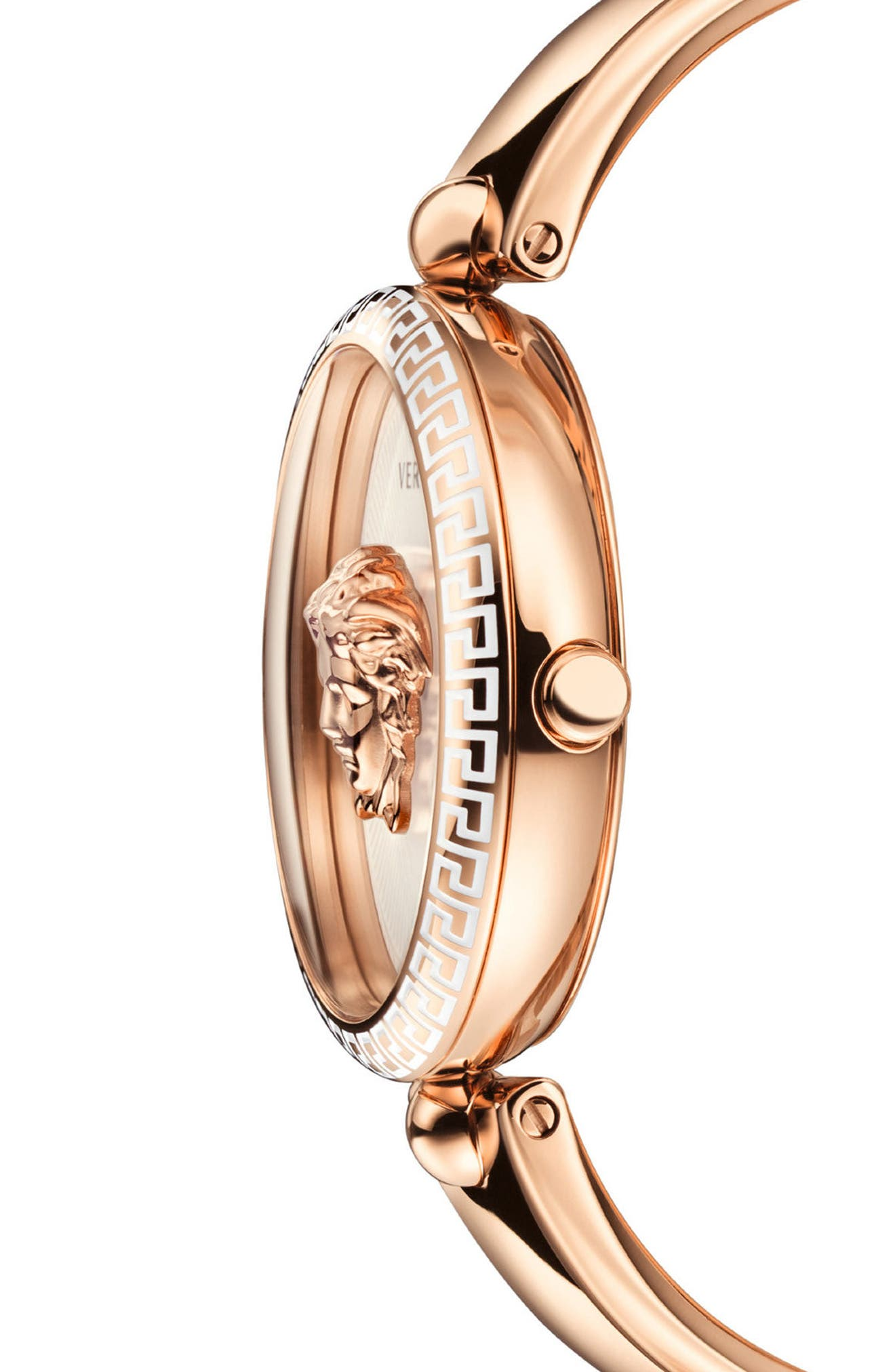 Palazzo Bangle Bracelet Watch, 39mm,                             Alternate thumbnail 3, color,                             Rose Gold/ White/ Rose Gold