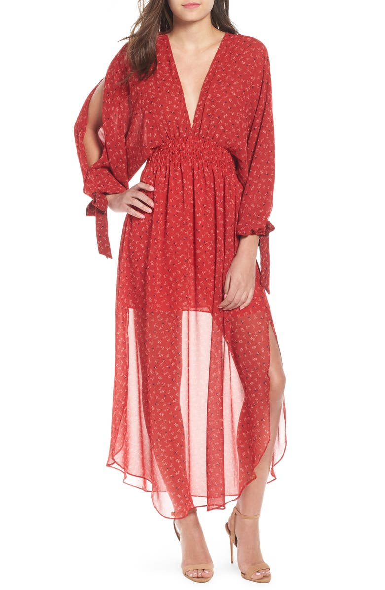 Andra Plunging Maxi Dress