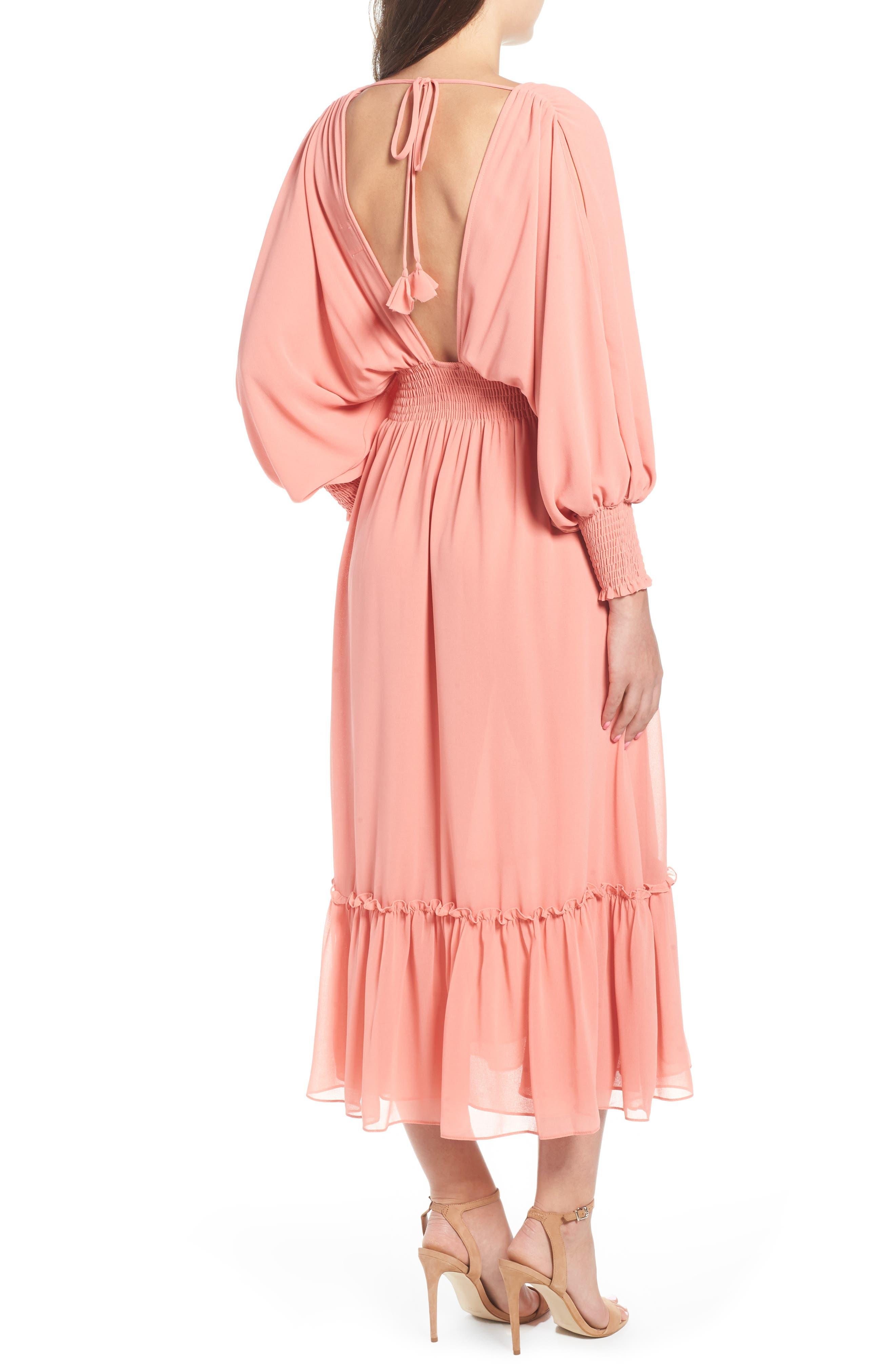 Margaux Midi Dress,                             Alternate thumbnail 2, color,                             Blush
