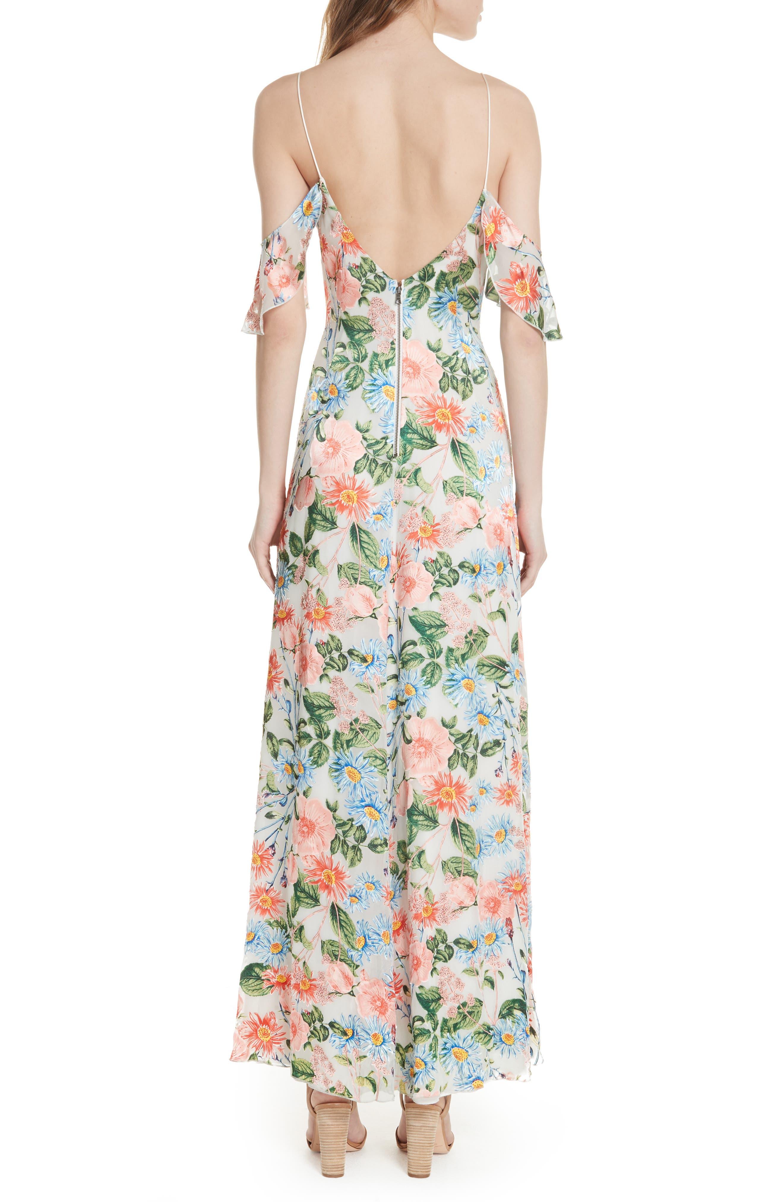 Alves Floral Cold Shoulder Maxi Dress,                             Alternate thumbnail 2, color,                             Floral Fields
