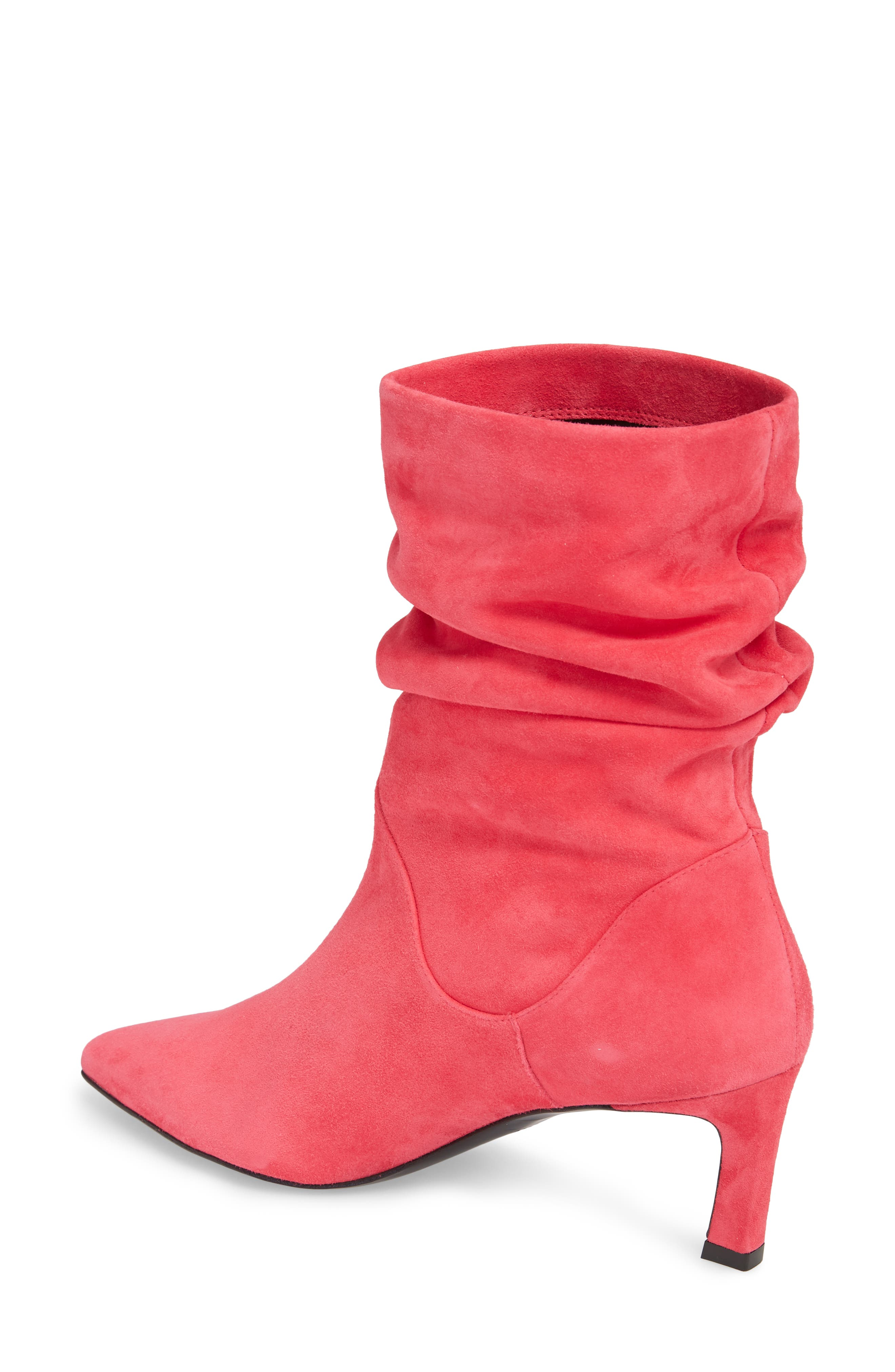 Demibenatar Slouch Bootie,                             Alternate thumbnail 2, color,                             Coral Luxe Suede