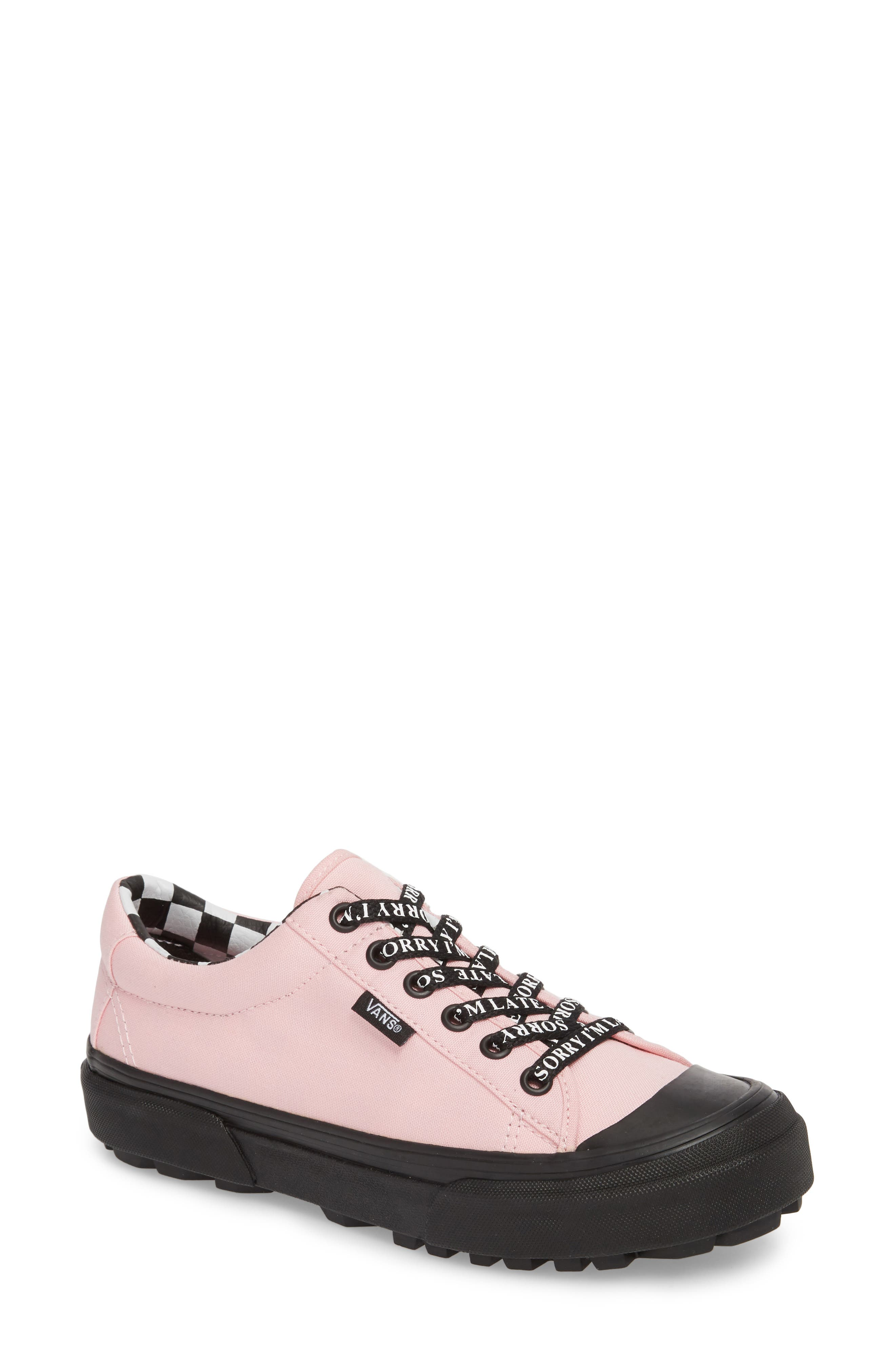 x Lazy Oaf Style 29 Low Top Sneaker,                         Main,                         color, Almond Blossom/ Black