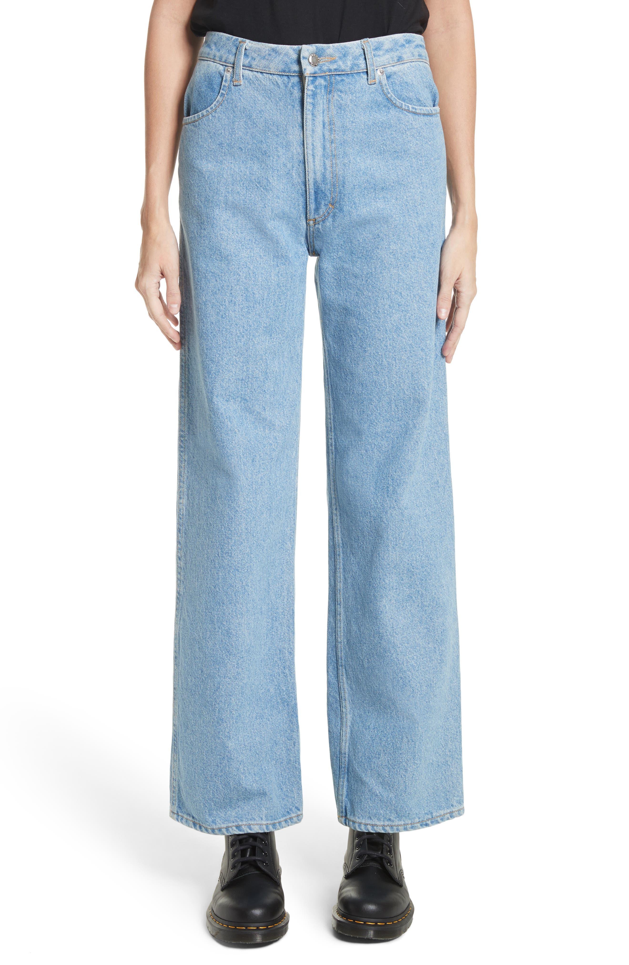 EL Wide Leg Jeans,                         Main,                         color, True Blue