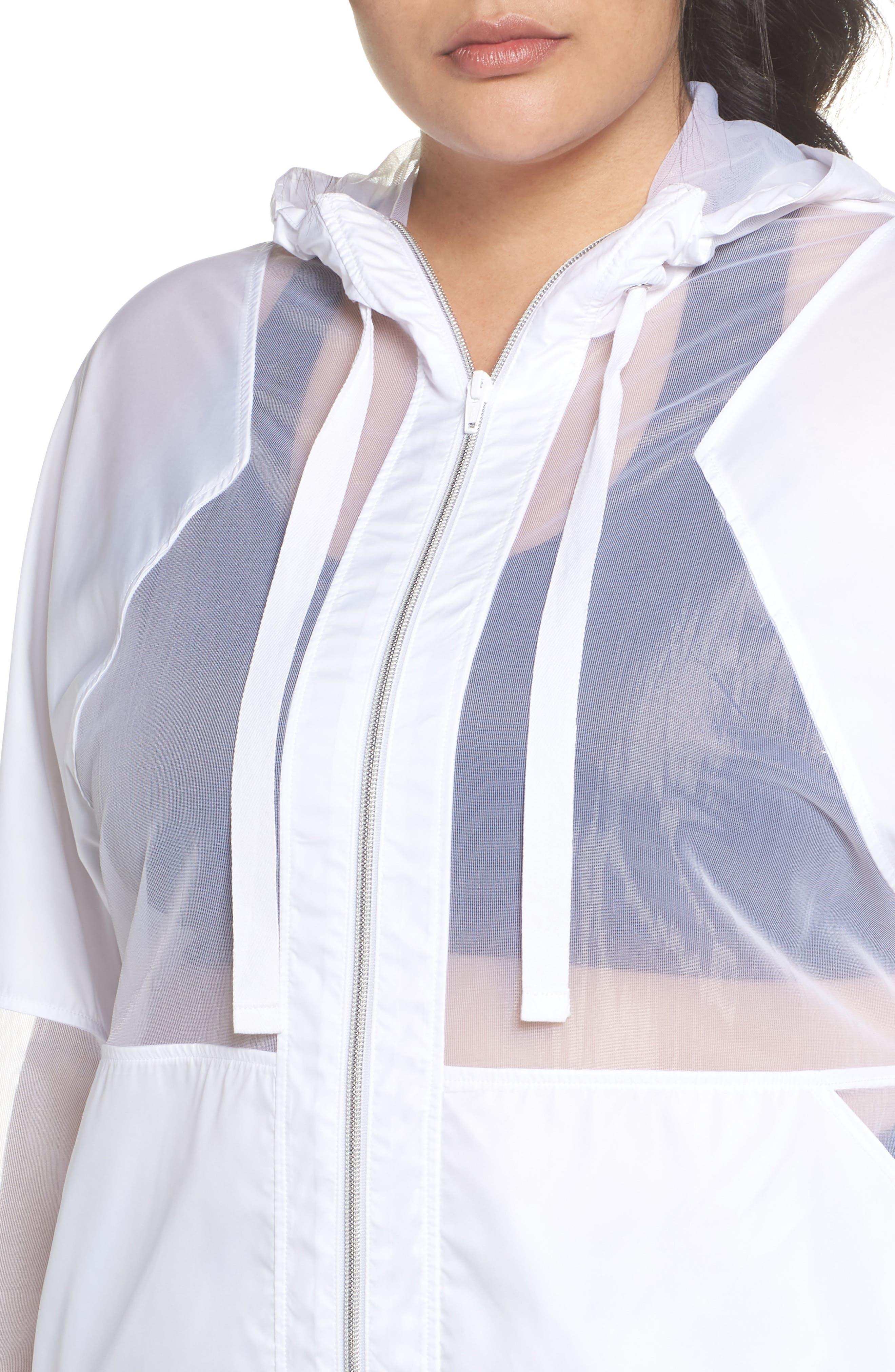 Sheer Mix Jacket,                             Alternate thumbnail 4, color,                             White