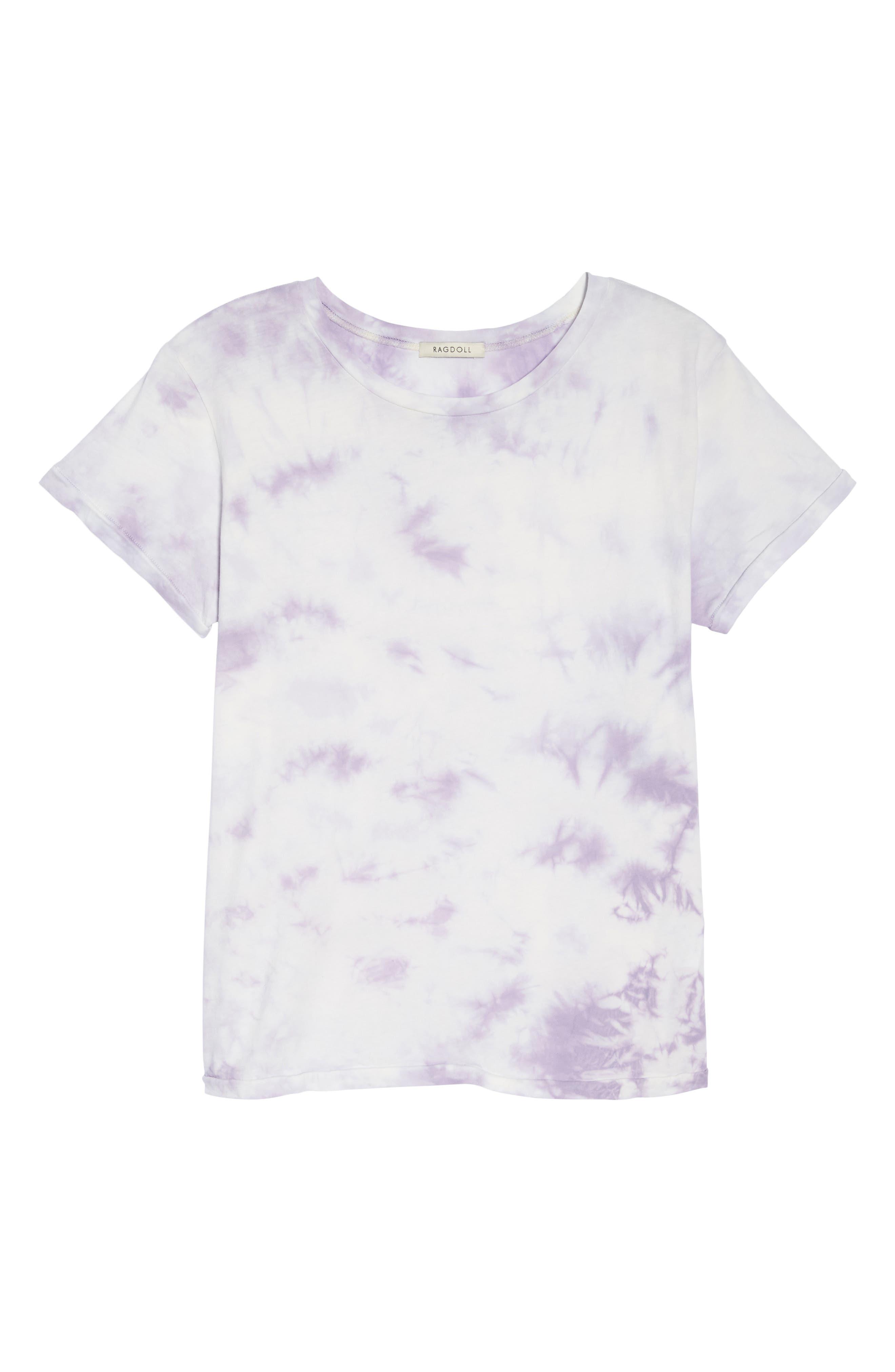 Tie Dye Tee,                             Alternate thumbnail 4, color,                             Lilac Tie Dye