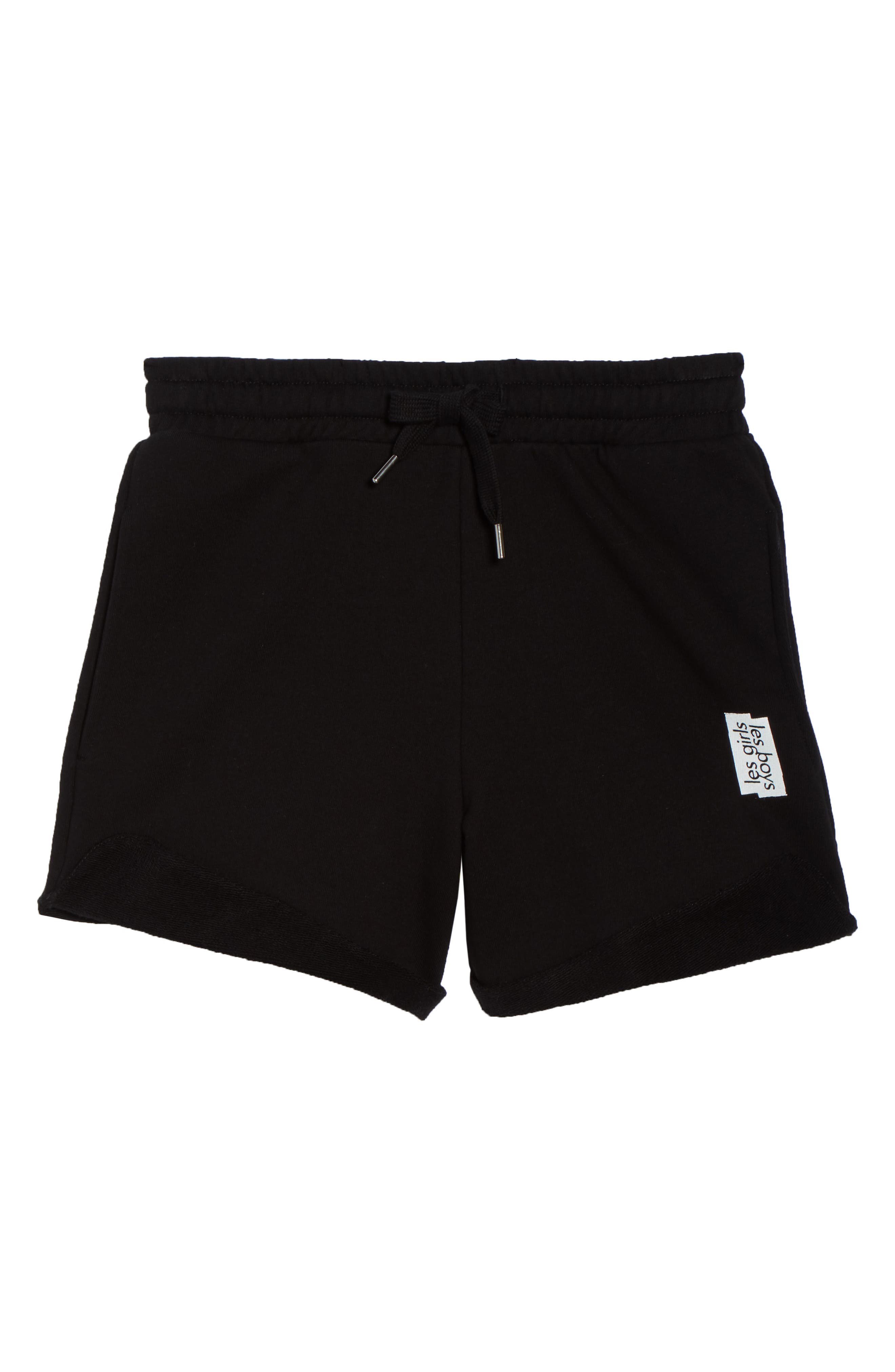 French Terry High Waist Shorts,                             Alternate thumbnail 4, color,                             Black