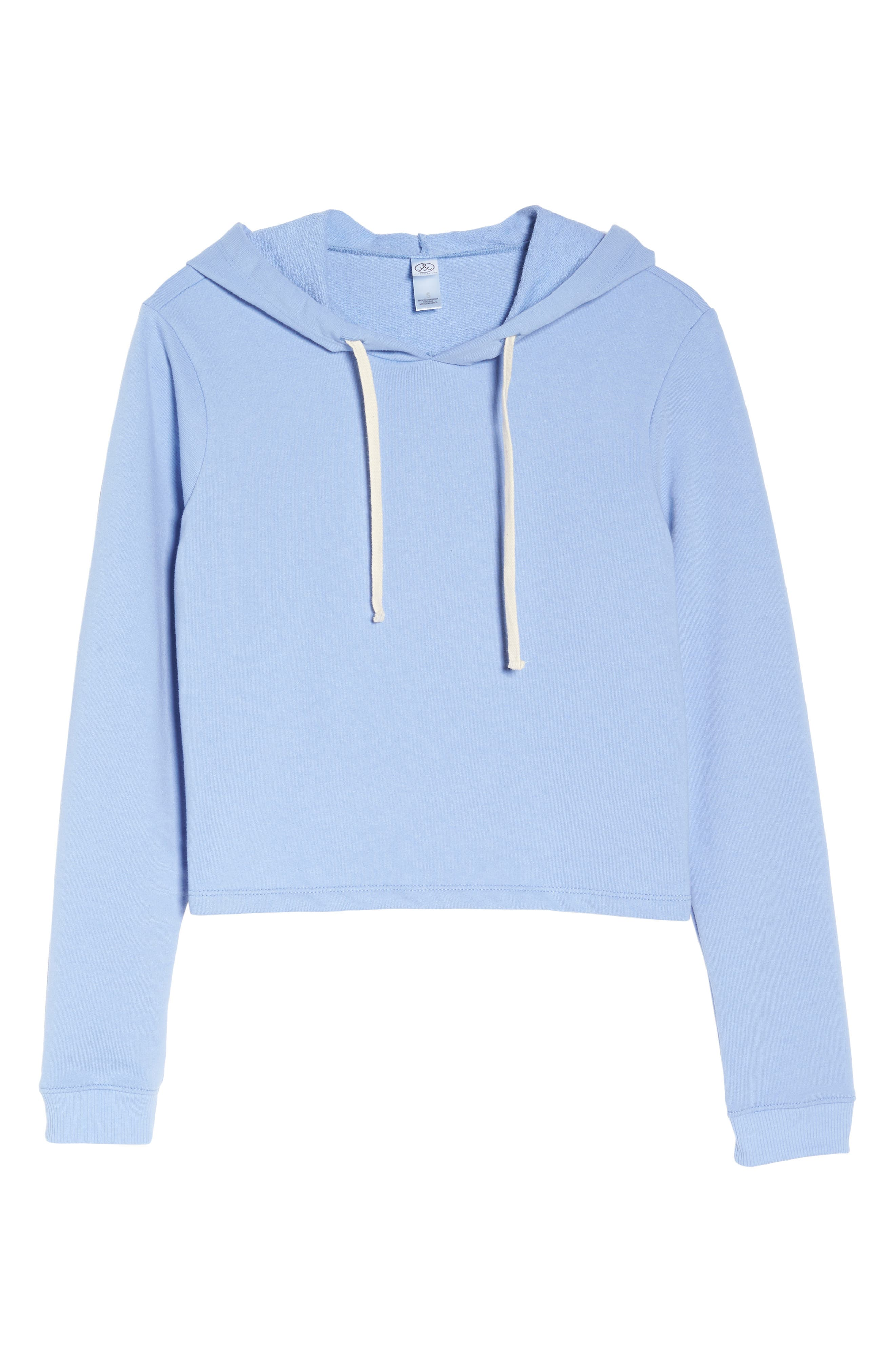 Cropped Terry Hoodie,                             Alternate thumbnail 4, color,                             True Lavender Lustre
