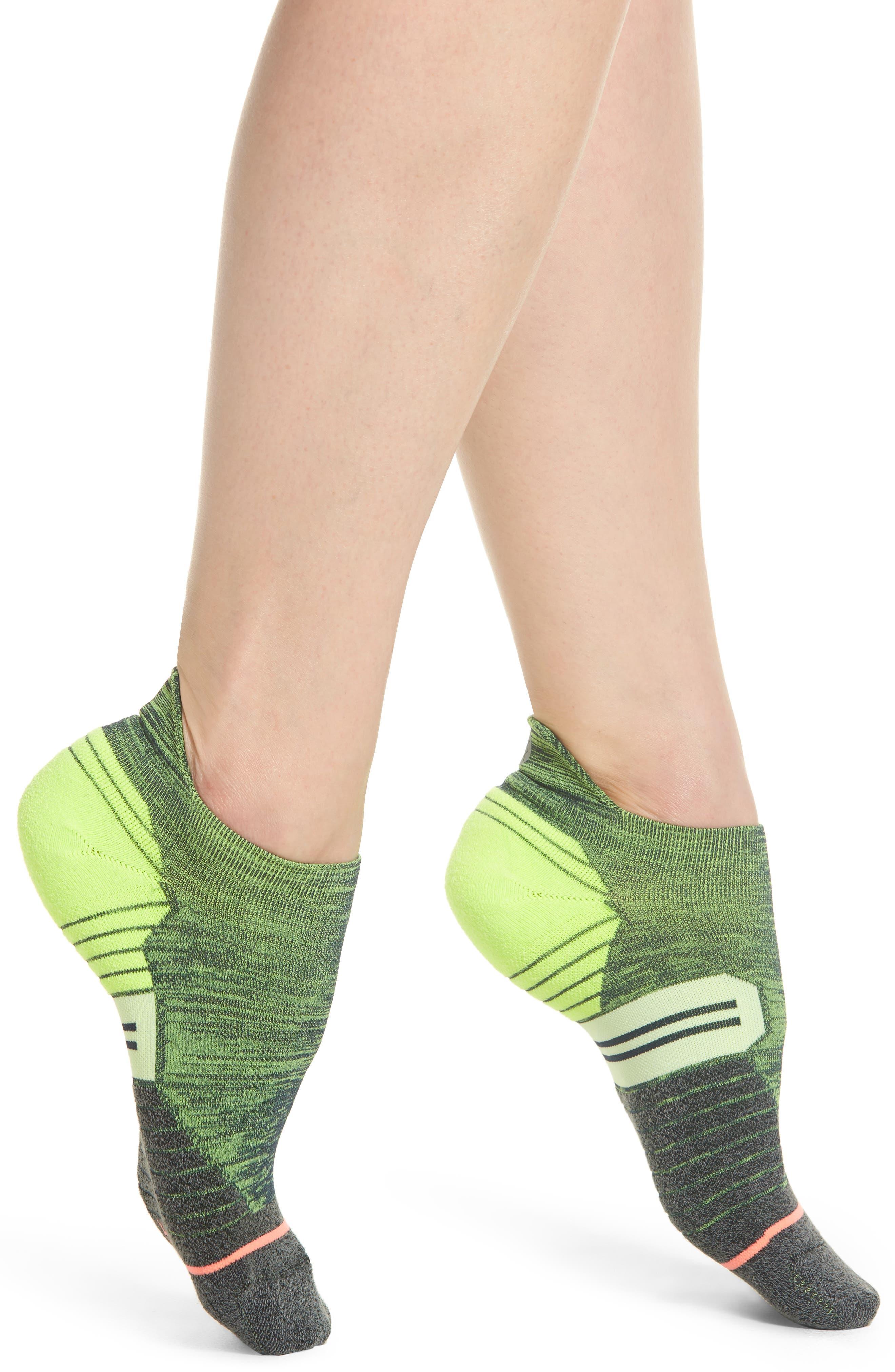 Distance Tab Running Socks,                         Main,                         color, Green