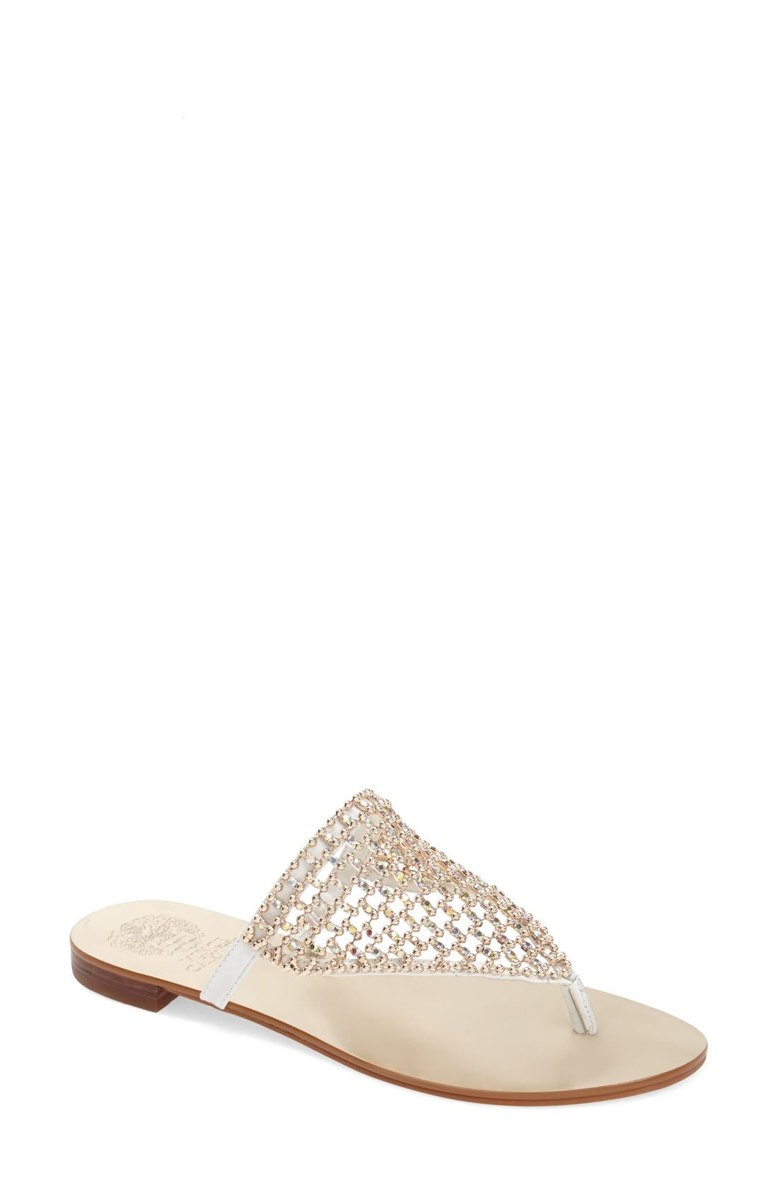 Alternate Image 1 Selected - Vince Camuto 'Mombo' Embellished Thong Sandal (Women)