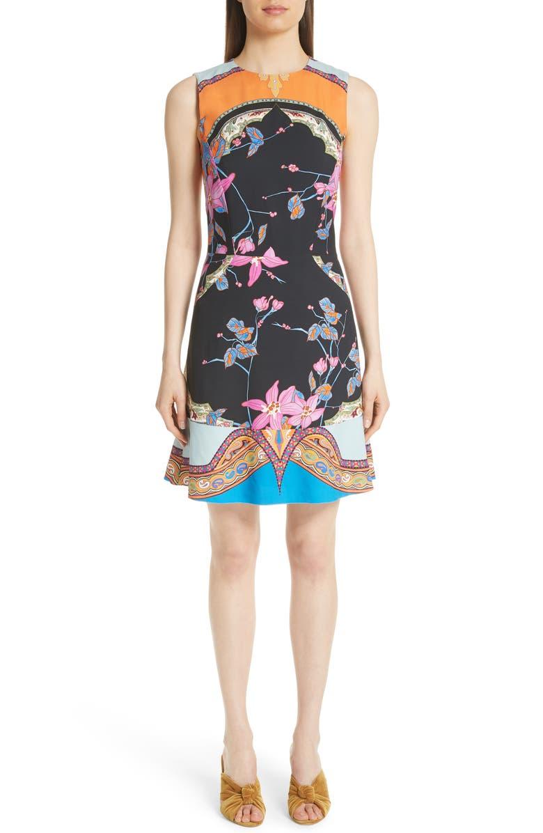 Lily Print Cady A-Line Dress