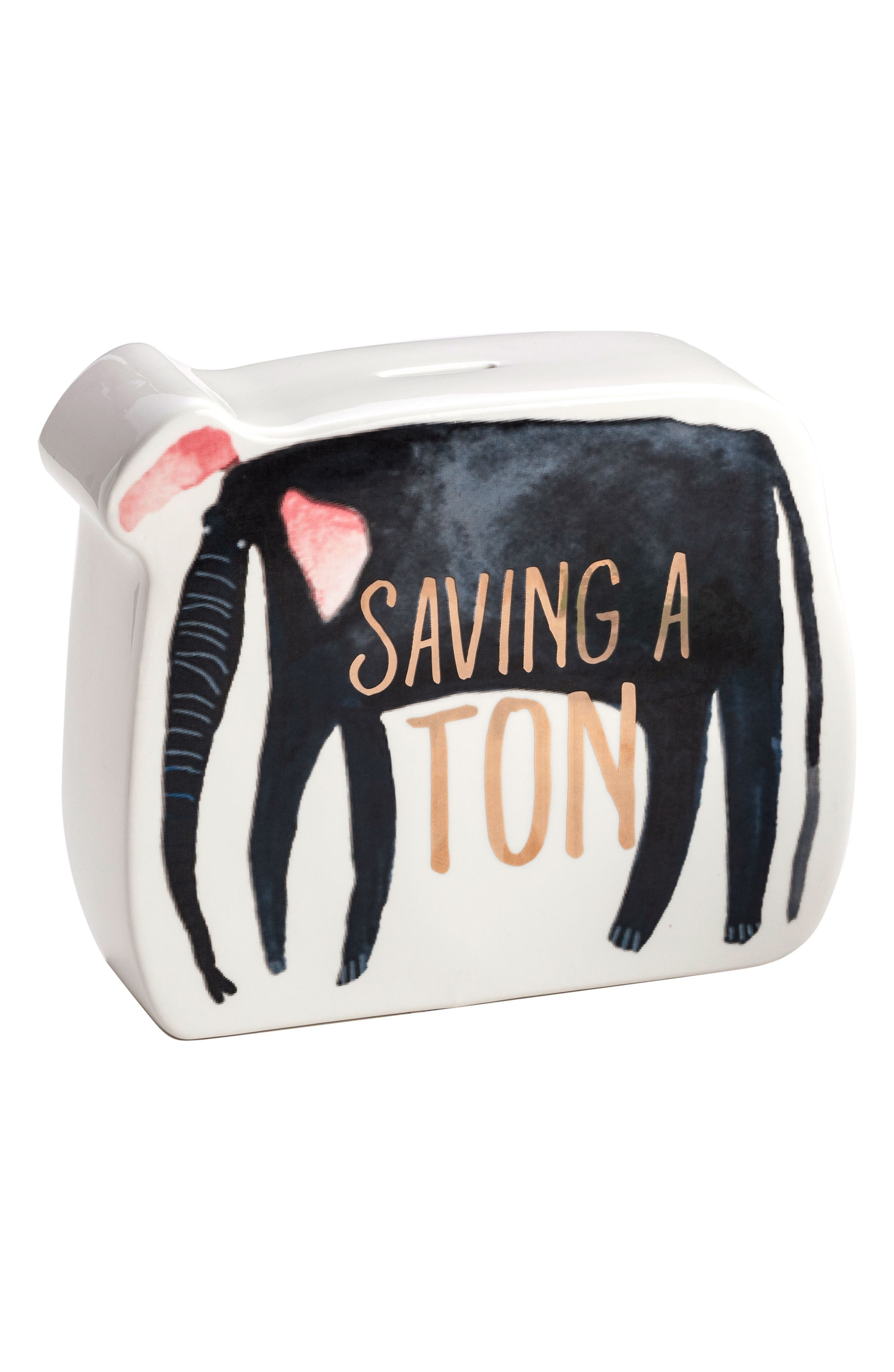 Be Wild Elephant Coin Bank,                         Main,                         color, Multi