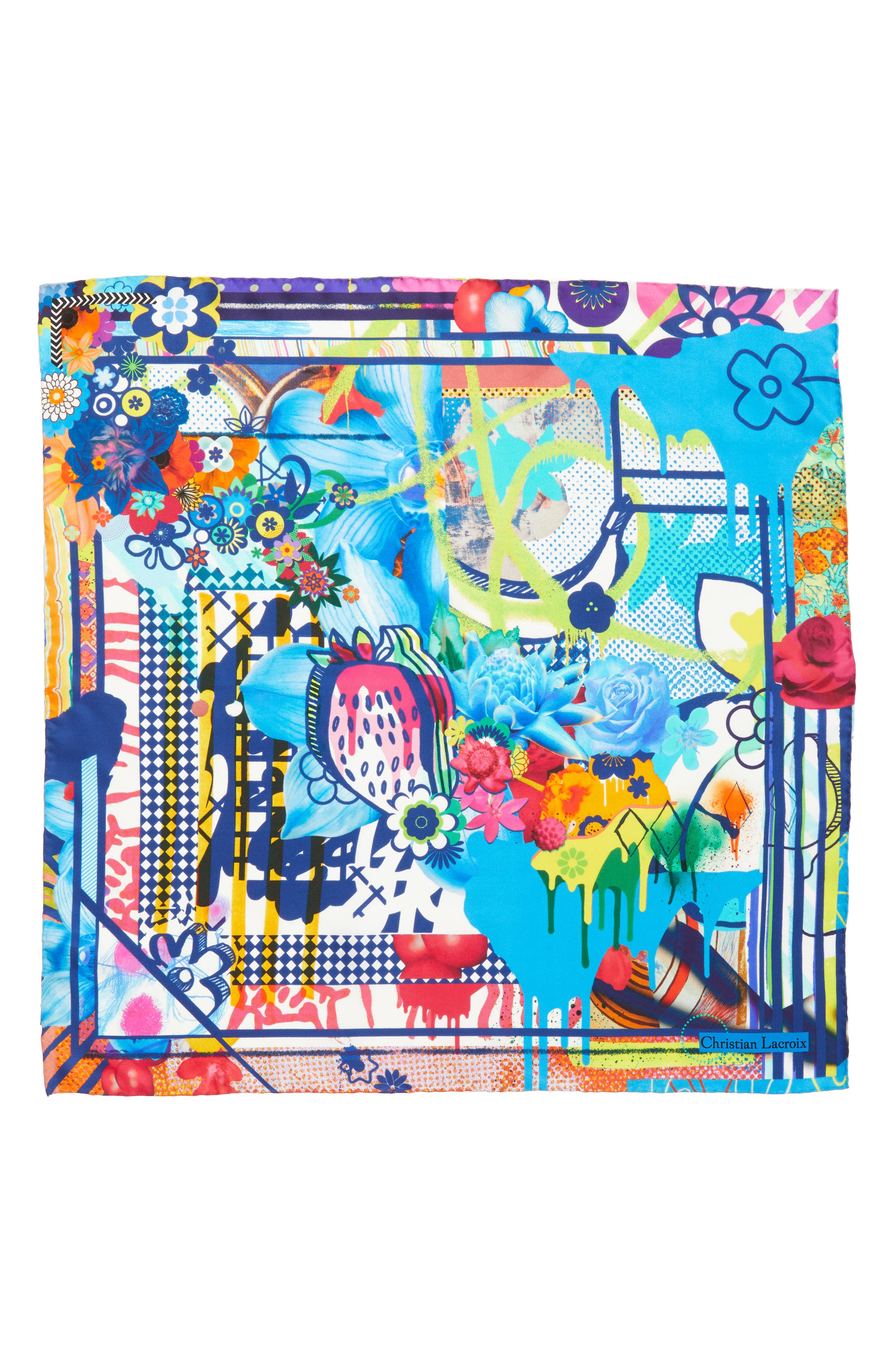 Christian Lacroix Floral Silk Scarf