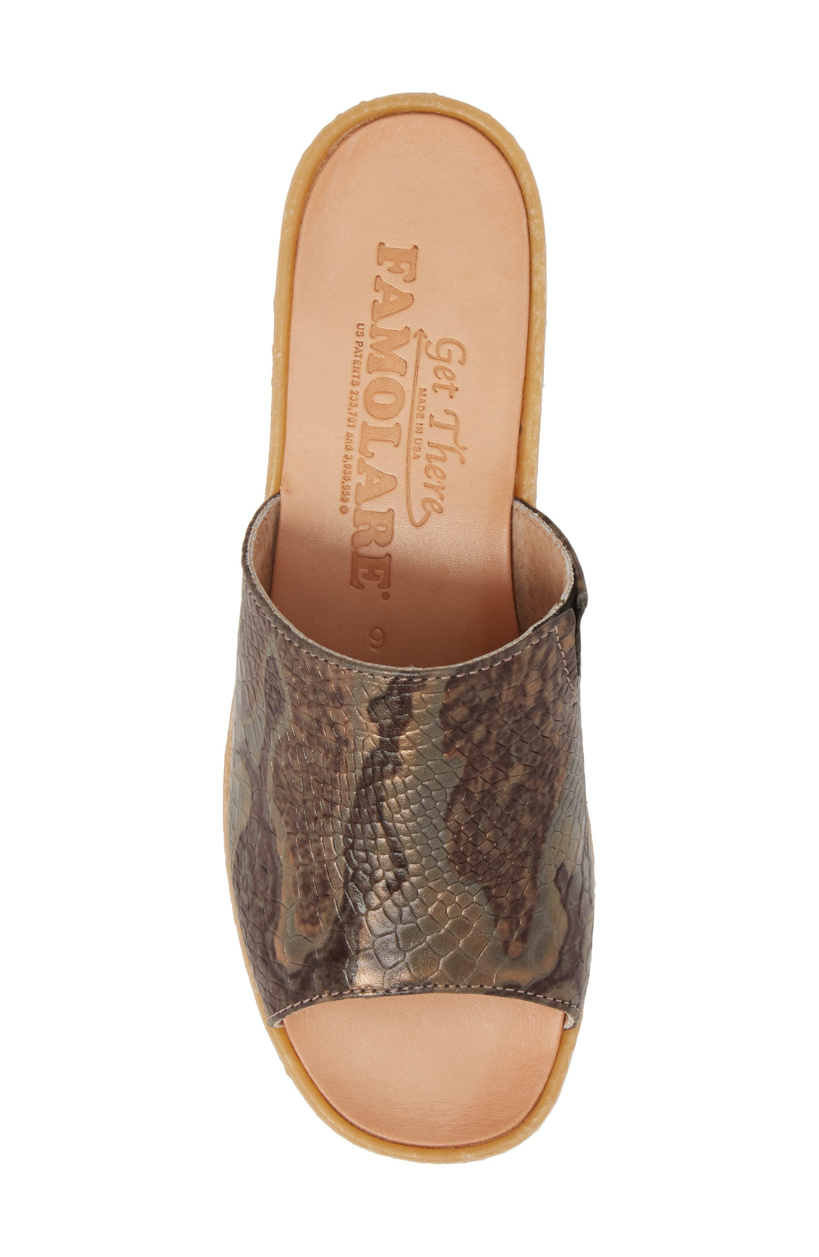 Slide N Sleek Wedge Slide Sandal,                             Alternate thumbnail 5, color,                             Snake Leather
