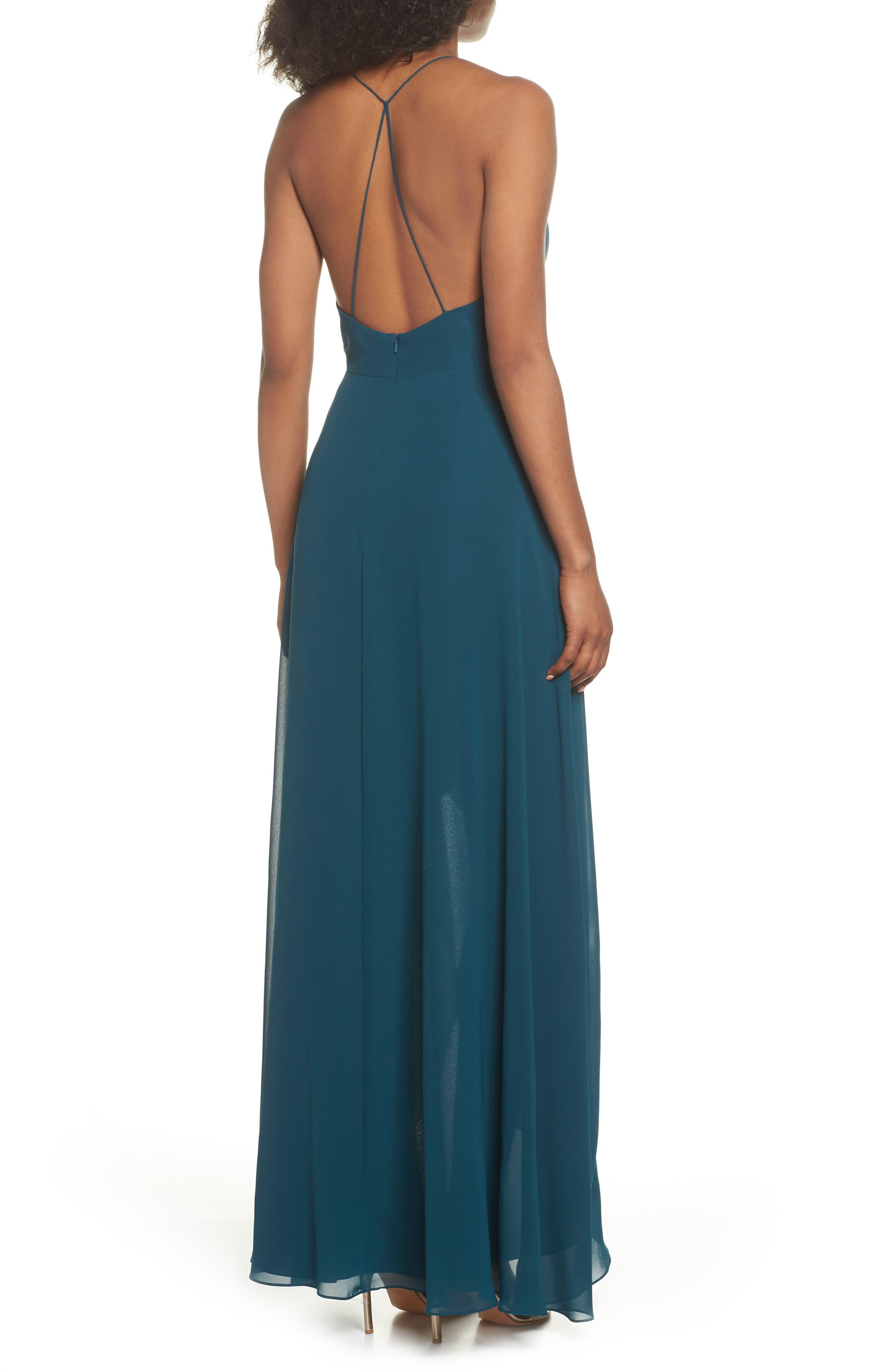 Alternate Image 2  - Jenny Yoo Farrah Ruffle Skirt Chiffon Gown