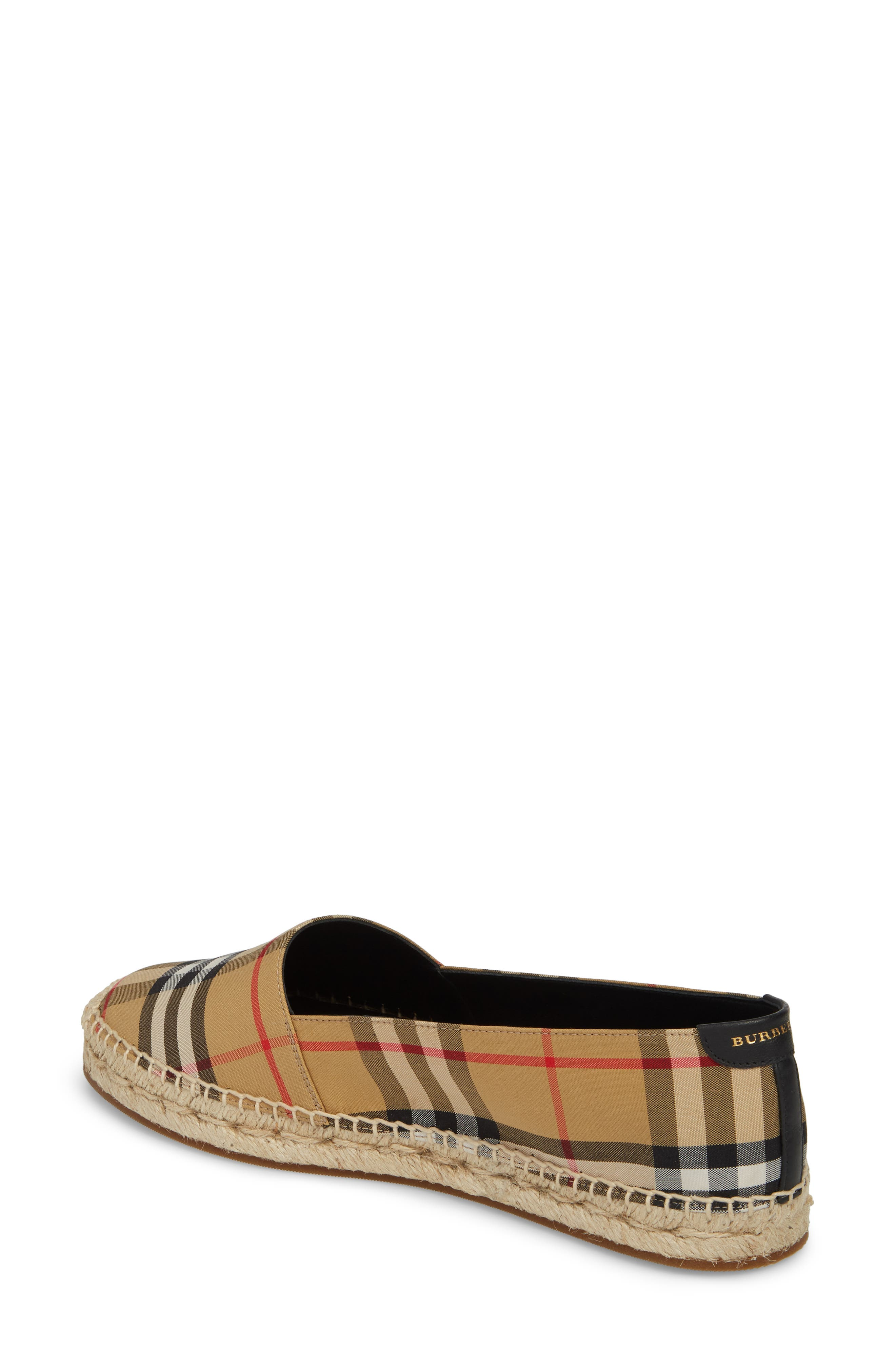Hodgeson Check Espadrille Flat,                             Alternate thumbnail 2, color,                             Yellow