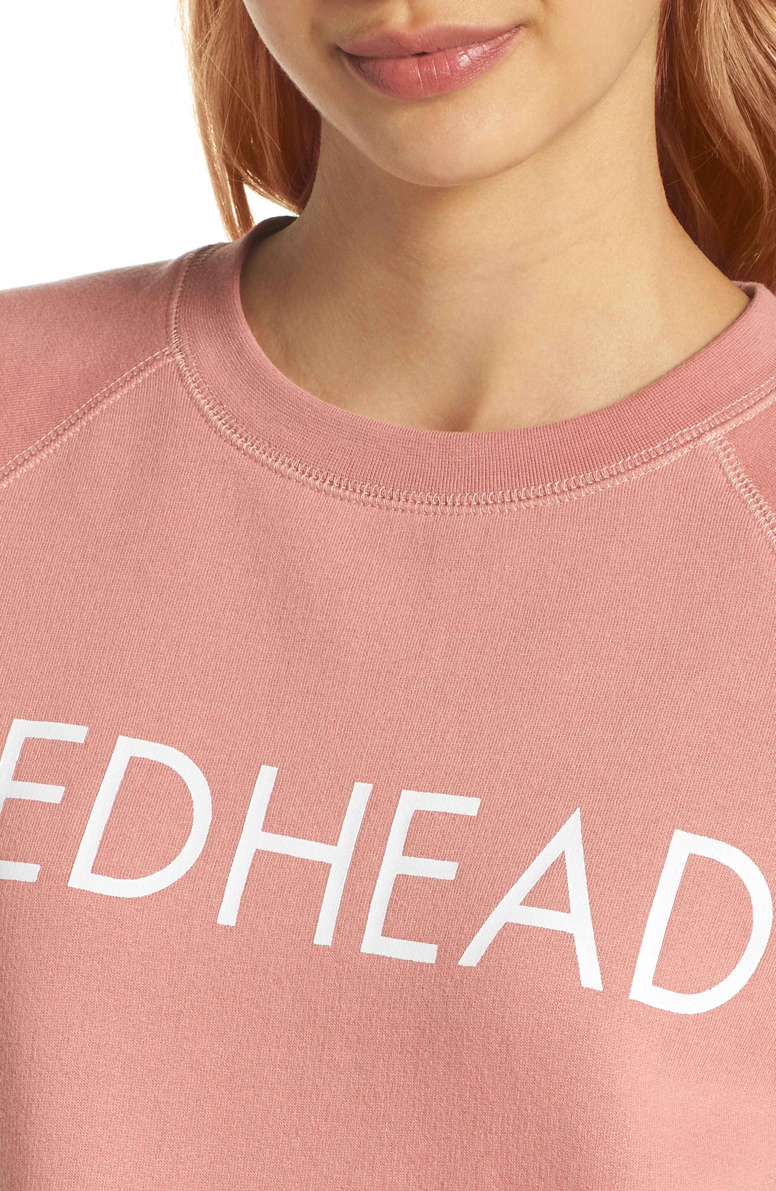 Redhead Crewneck Sweatshirt,                             Alternate thumbnail 5, color,                             Dusty Rose