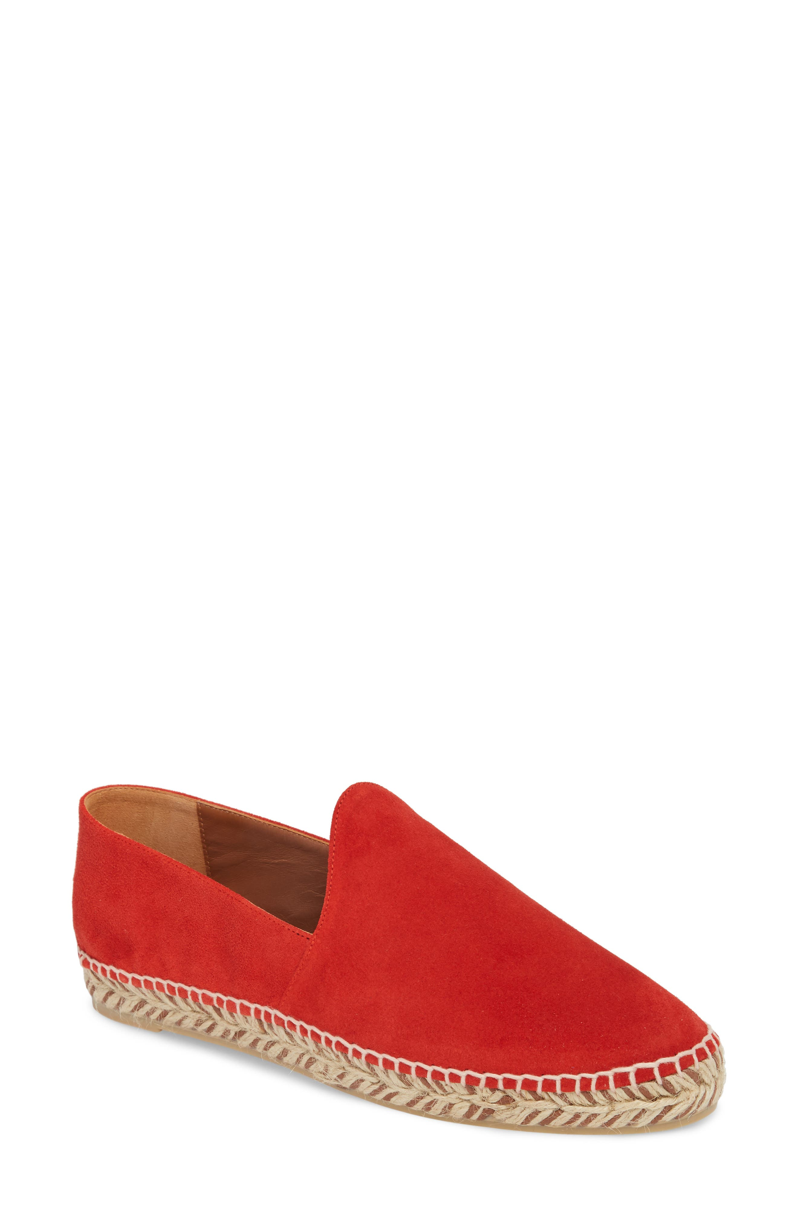 Haddie Espadrille Loafer,                         Main,                         color, Red Suede