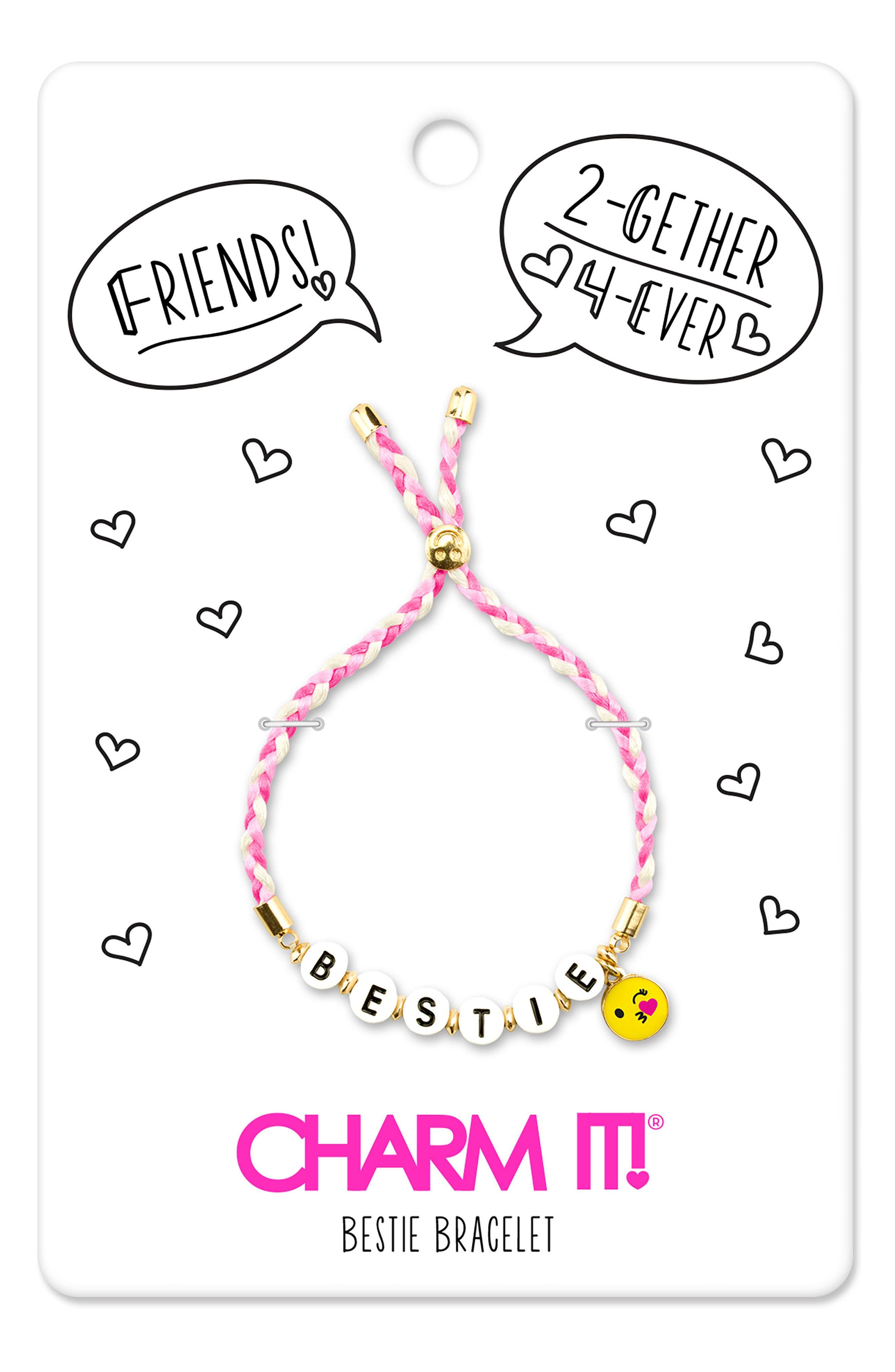 CHARM IT!<sup>®</sup> Bestie Emoji Bracelet,                             Alternate thumbnail 3, color,                             Multi