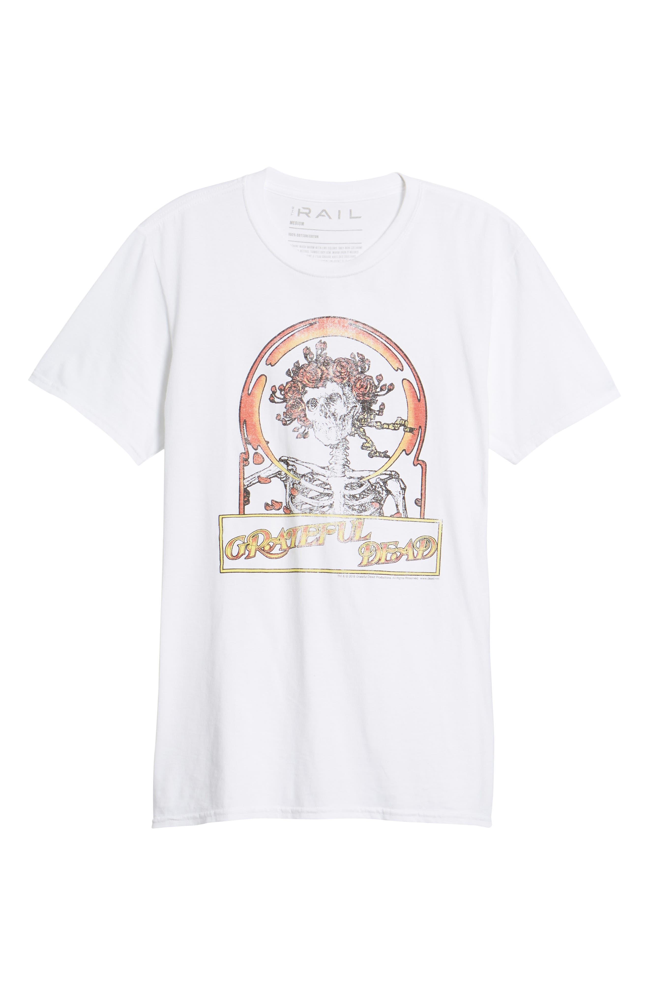 Grateful Dead T-Shirt,                             Alternate thumbnail 6, color,                             White Grateful Dead
