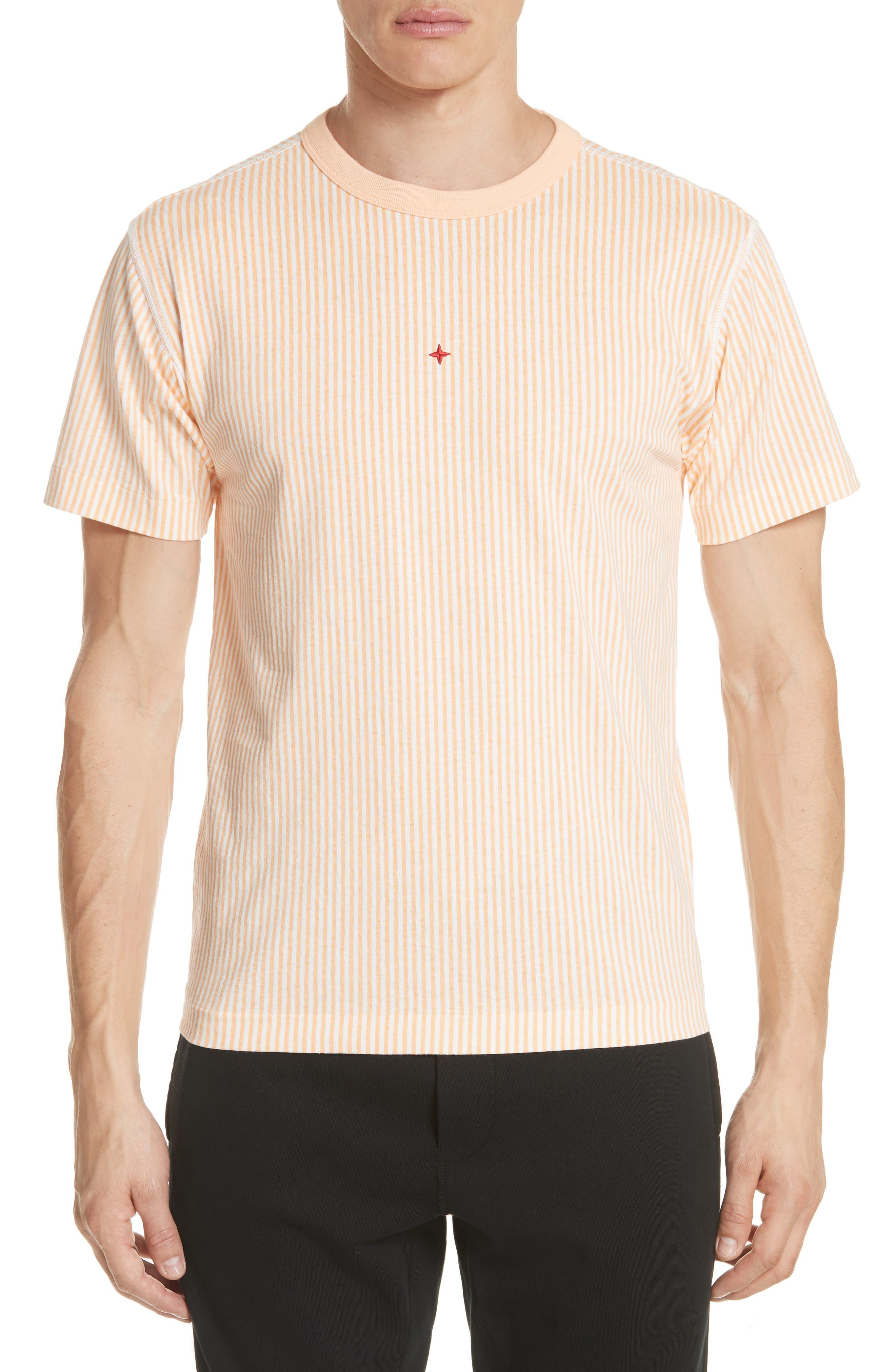 Stripe Marina T-Shirt,                         Main,                         color, Orange