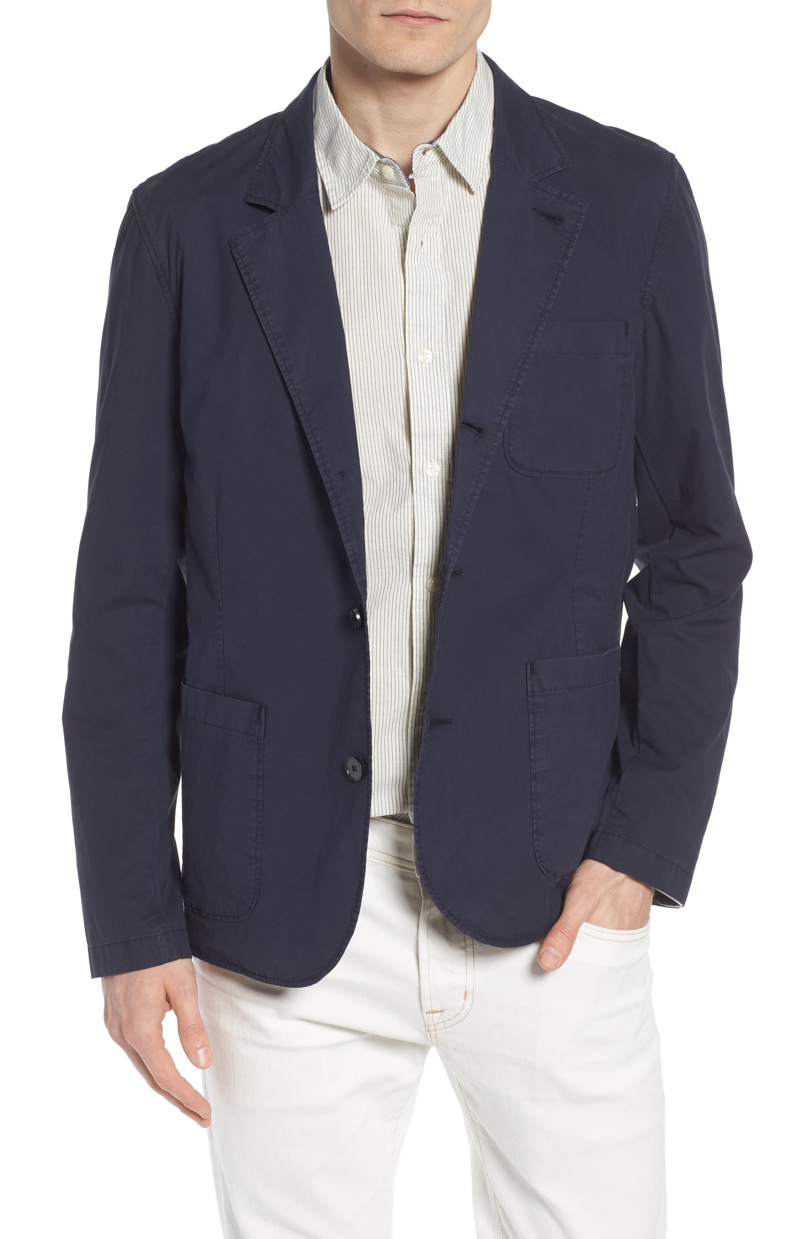 Shane Regular Fit Stretch Cotton Blazer,                         Main,                         color, Sulfur Dark Cove