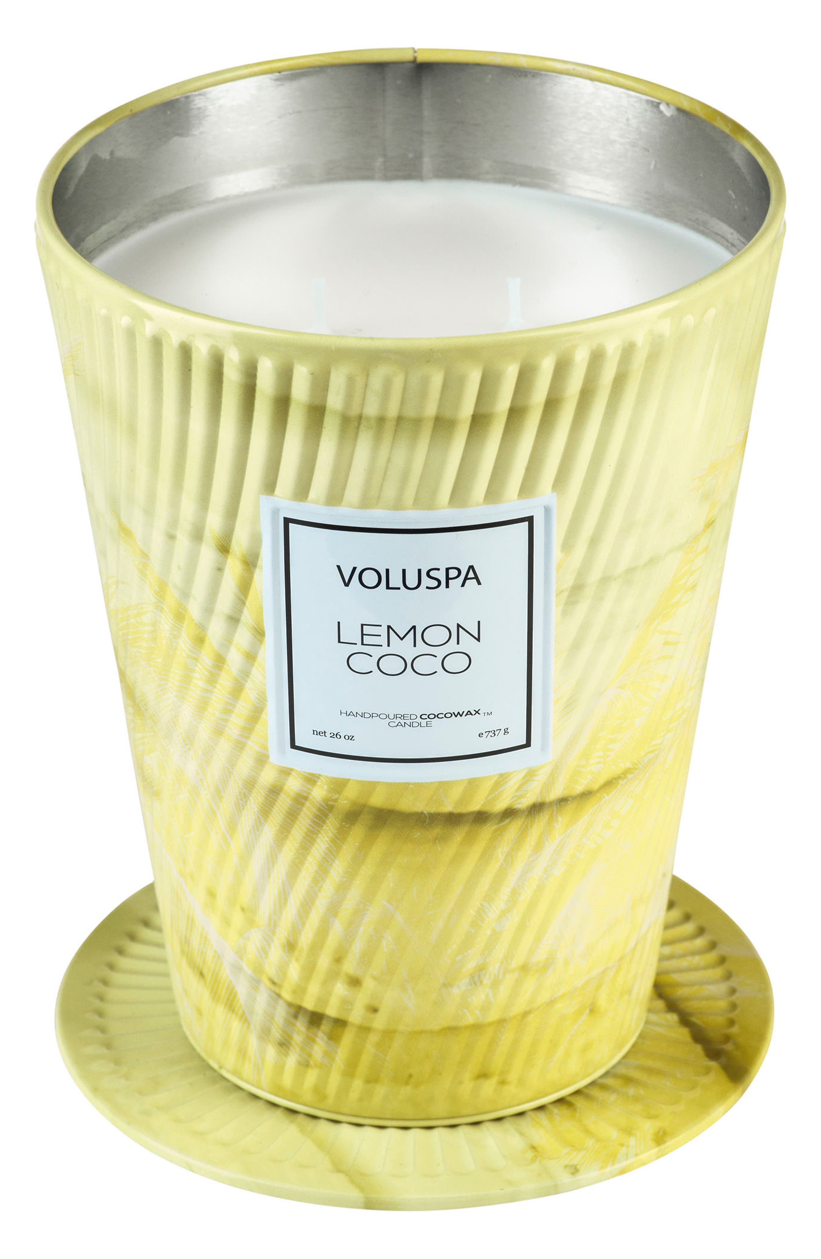 Macaron Two-Wick Tin Table Candle,                             Alternate thumbnail 2, color,                             Lemon Coco
