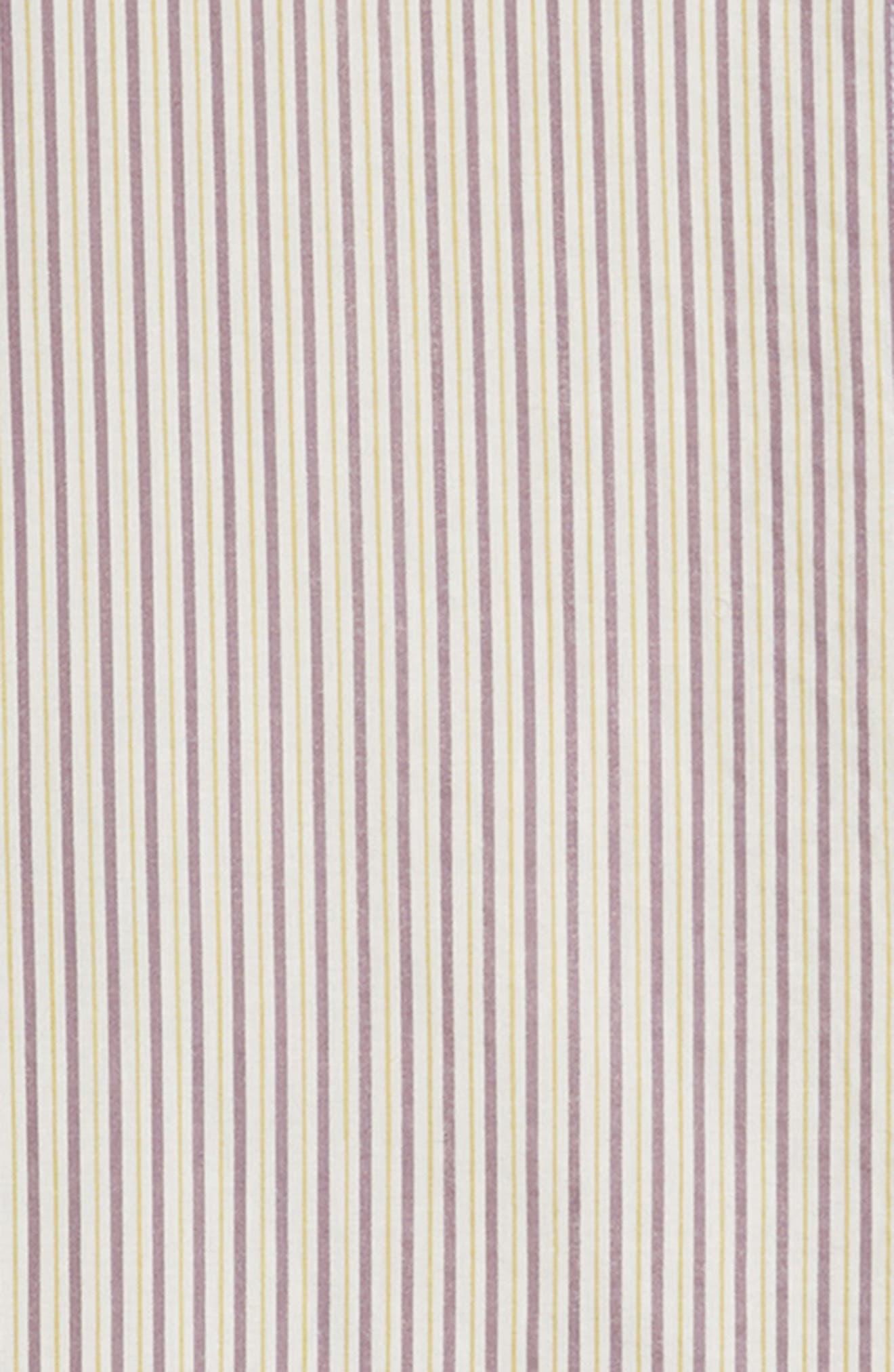 Ruffle Stripe Shirtdress,                             Alternate thumbnail 3, color,                             White Multi Stripe