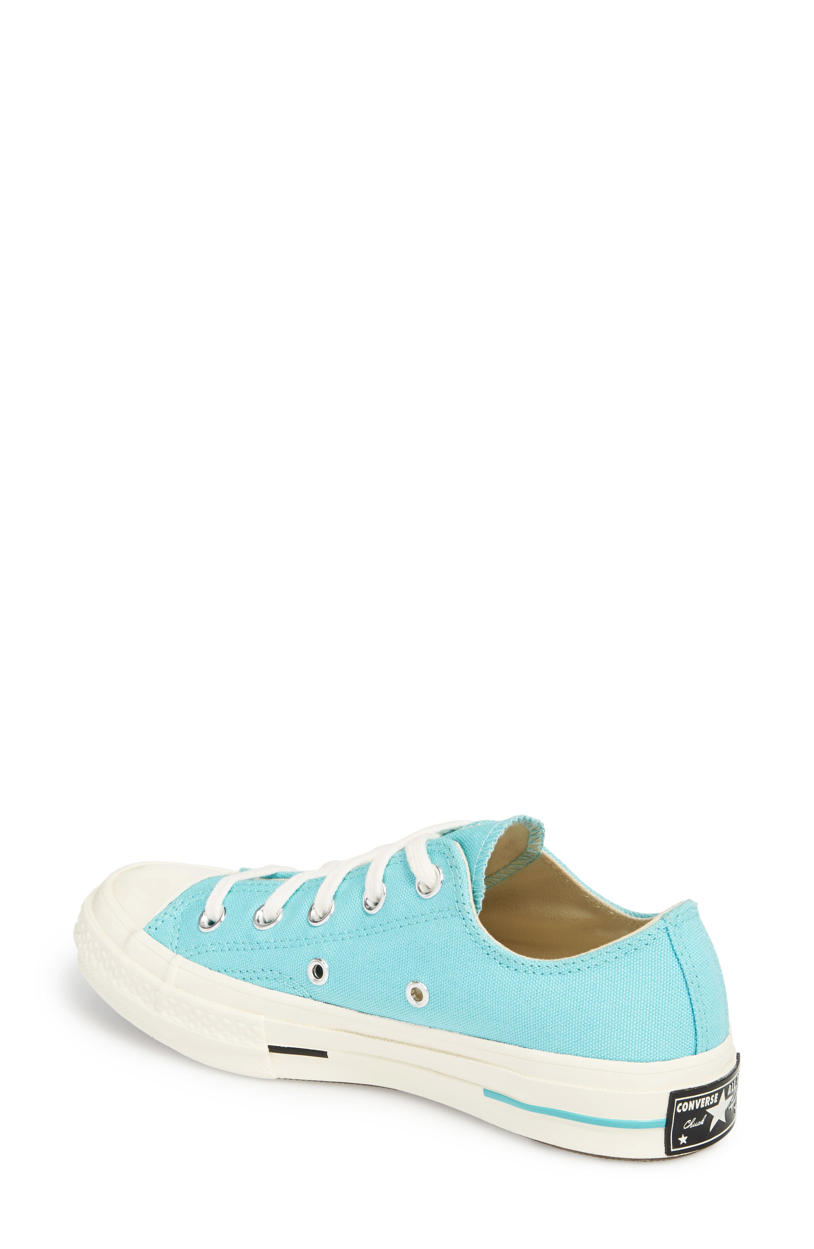 Chuck Taylor<sup>®</sup> All Star<sup>®</sup> '70s Brights Low Top Sneaker,                             Alternate thumbnail 2, color,                             Bleached Aqua