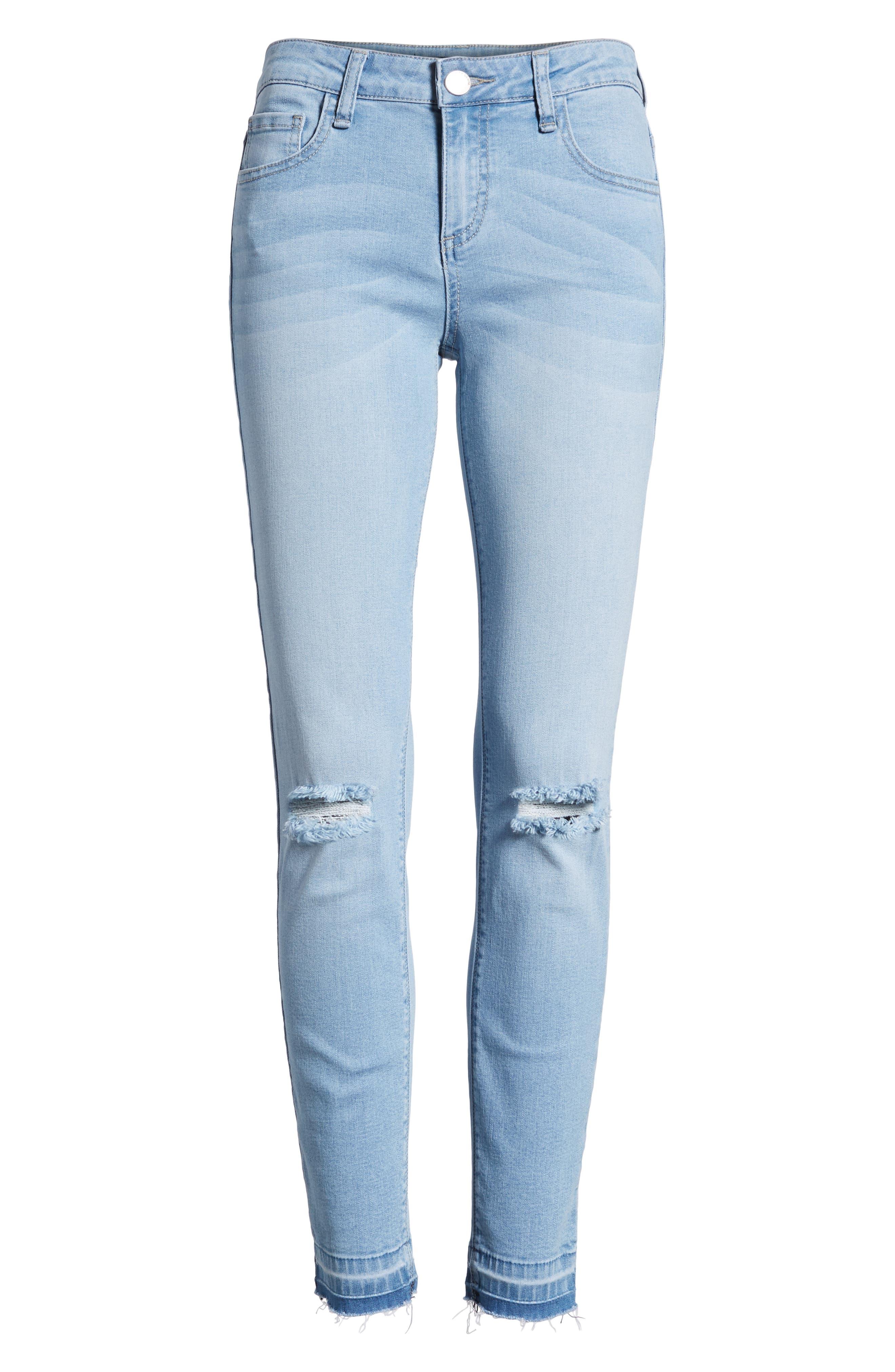 Release Hem Skinny Jeans,                             Alternate thumbnail 7, color,                             Ashley