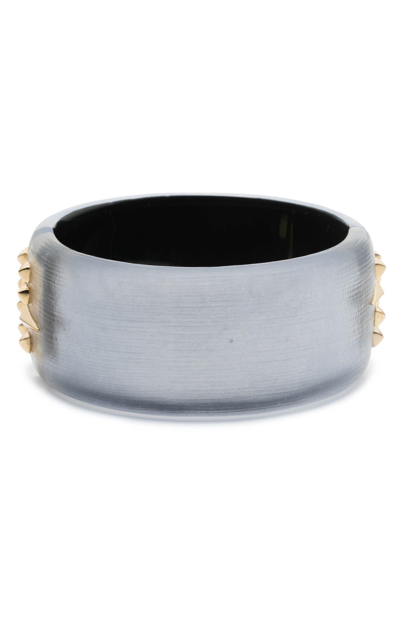 Golden Studded Hinge Bracelet,                         Main,                         color, Steel Blue