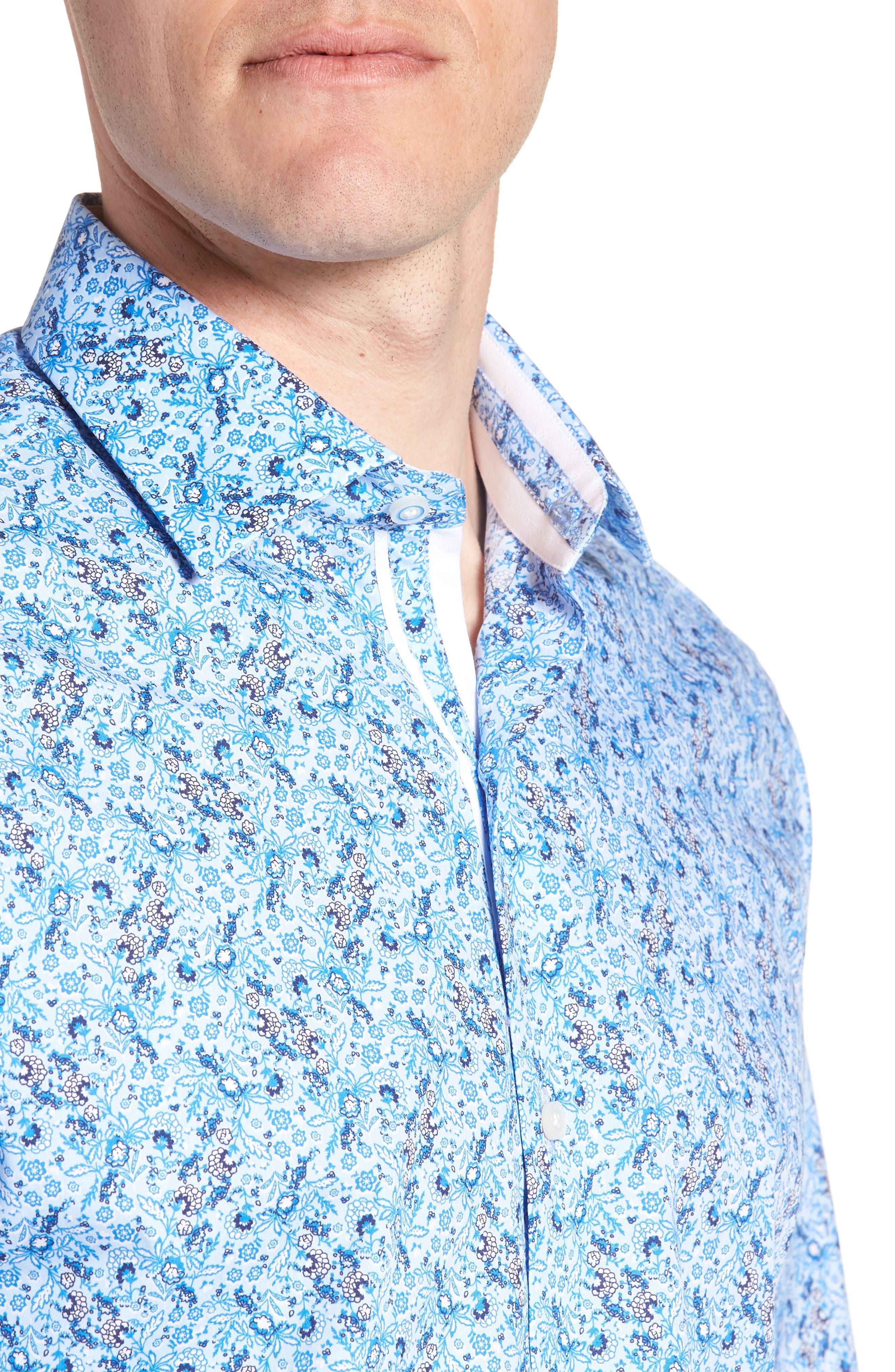Alaric Regular Fit Print Sport Shirt,                             Alternate thumbnail 2, color,                             Blue
