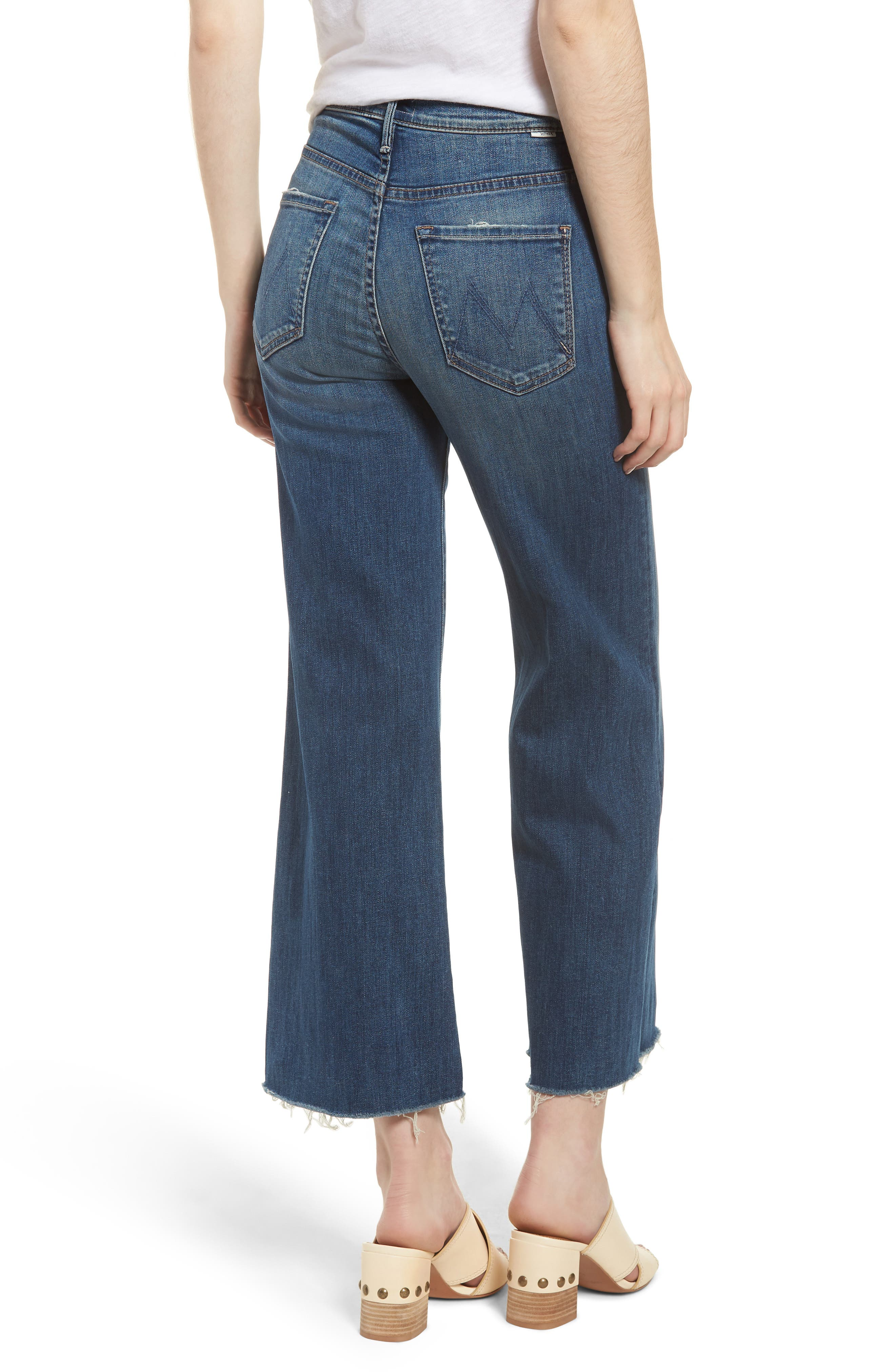 The Swooner High Waist Crop Wide Leg Jeans,                             Alternate thumbnail 2, color,                             Come Sundown