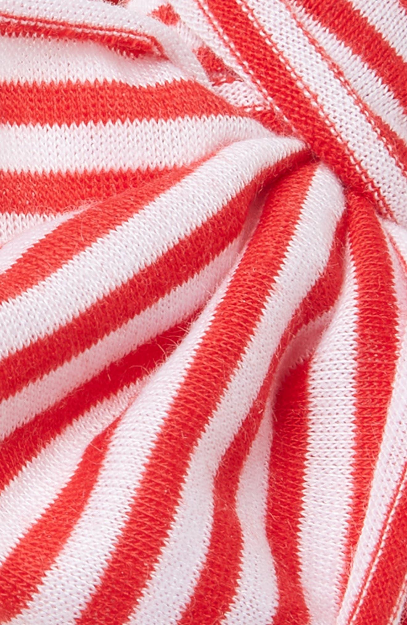 Jersey Bow Headband,                             Alternate thumbnail 2, color,                             Cherry-Cherry Stripe