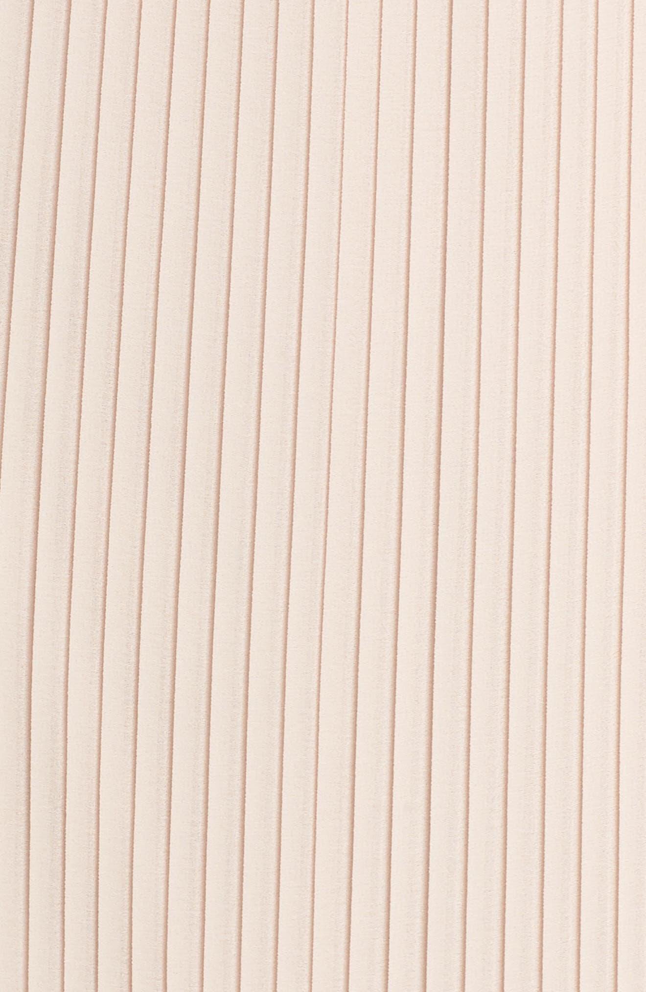 Pleated Midi Dress,                             Alternate thumbnail 6, color,                             Blush