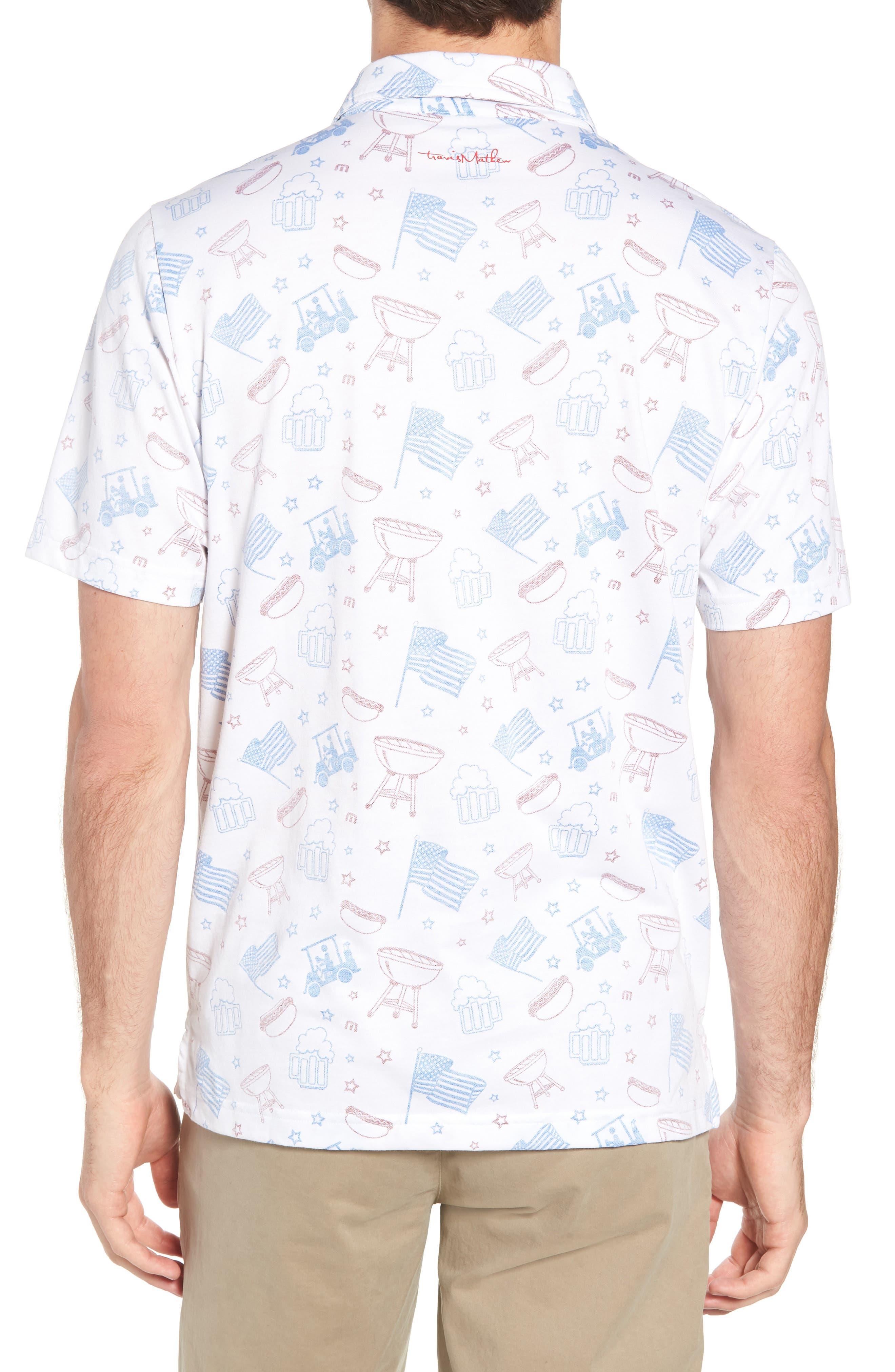 Ahh Yeah Regular Fit Short Sleeve Sport Shirt,                             Alternate thumbnail 3, color,                             White
