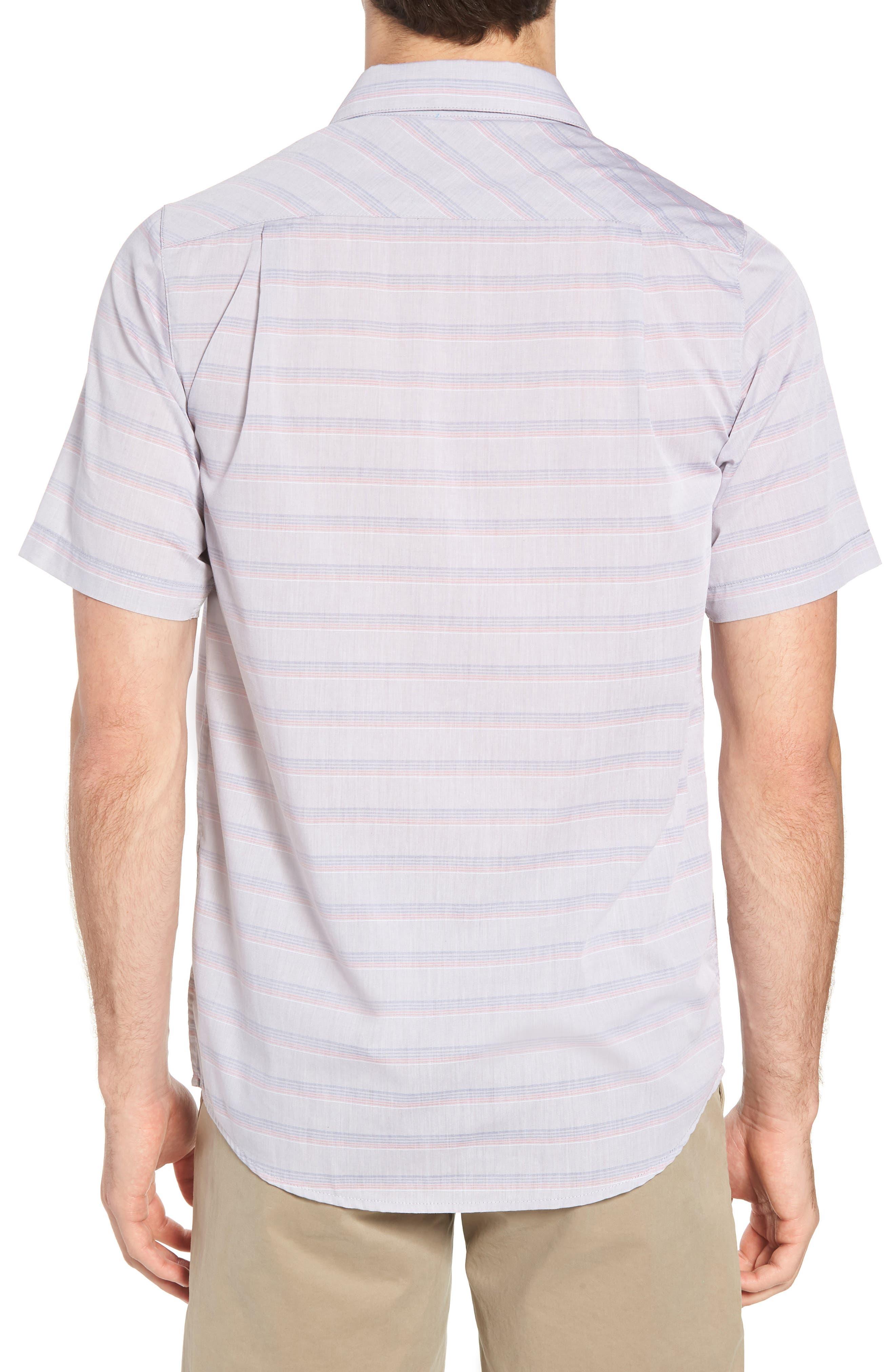 Comet Regular Fit Short Sleeve Sport Shirt,                             Alternate thumbnail 3, color,                             Heather Sharkskin