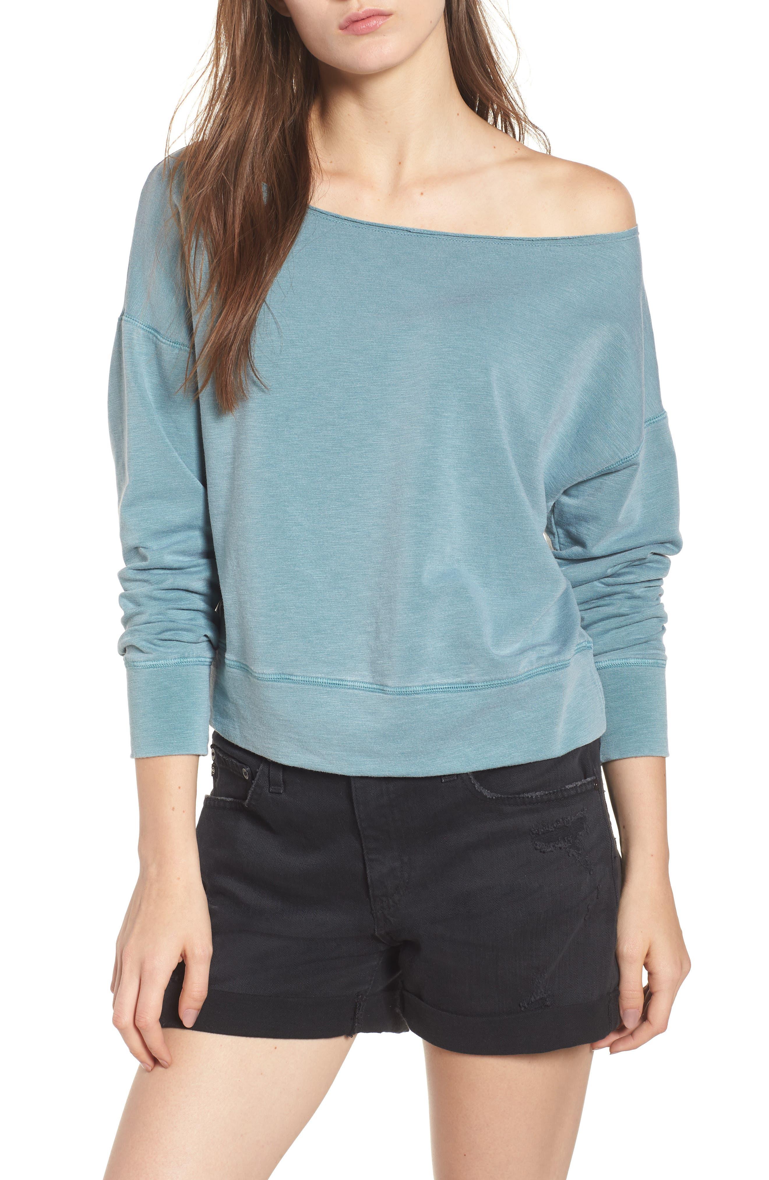 Sundry Off the Shoulder Sweatshirt