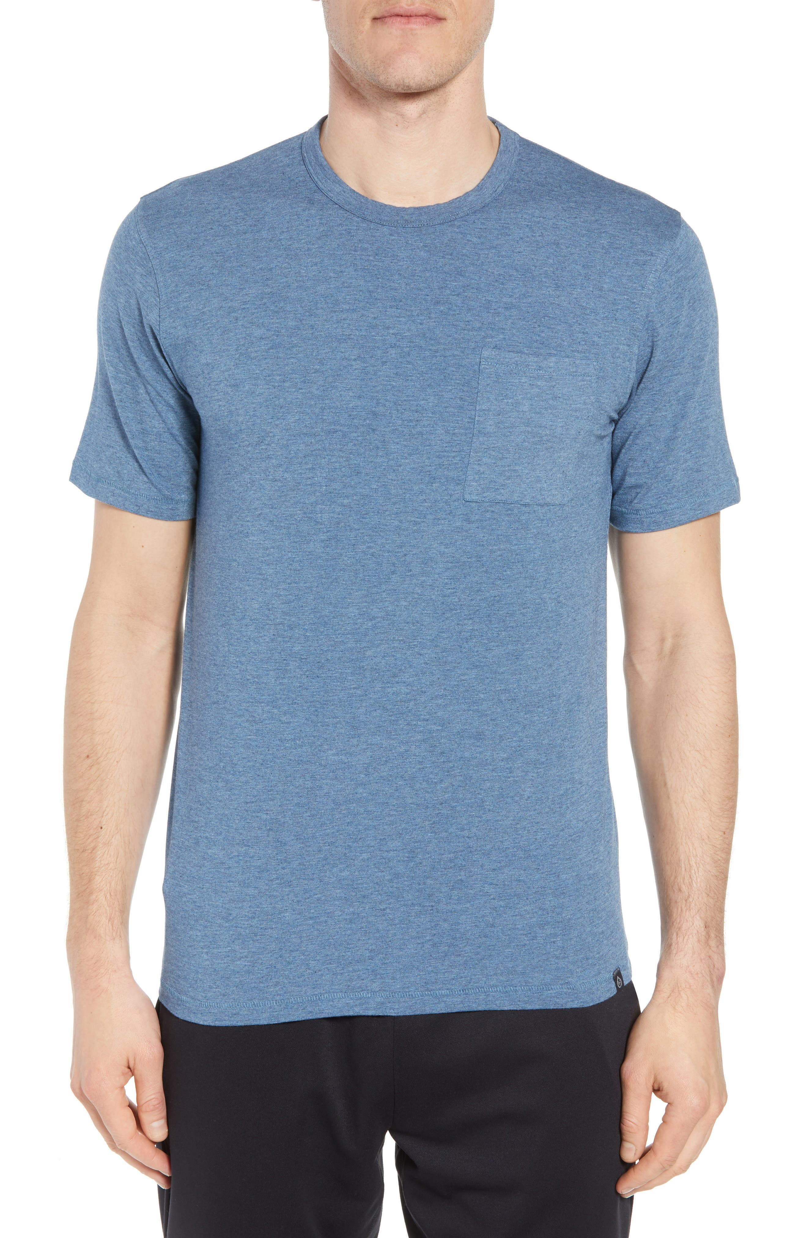 Nantucket Fitted T-Shirt,                             Main thumbnail 1, color,                             Indigo Heather
