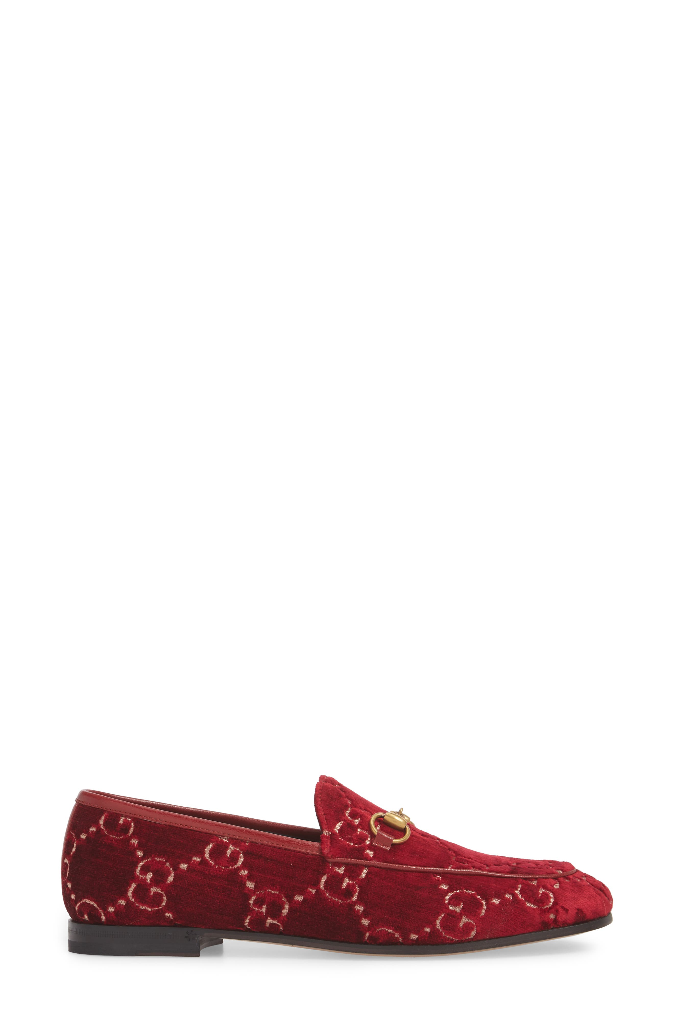 Jordaan Loafer,                             Alternate thumbnail 3, color,                             Red