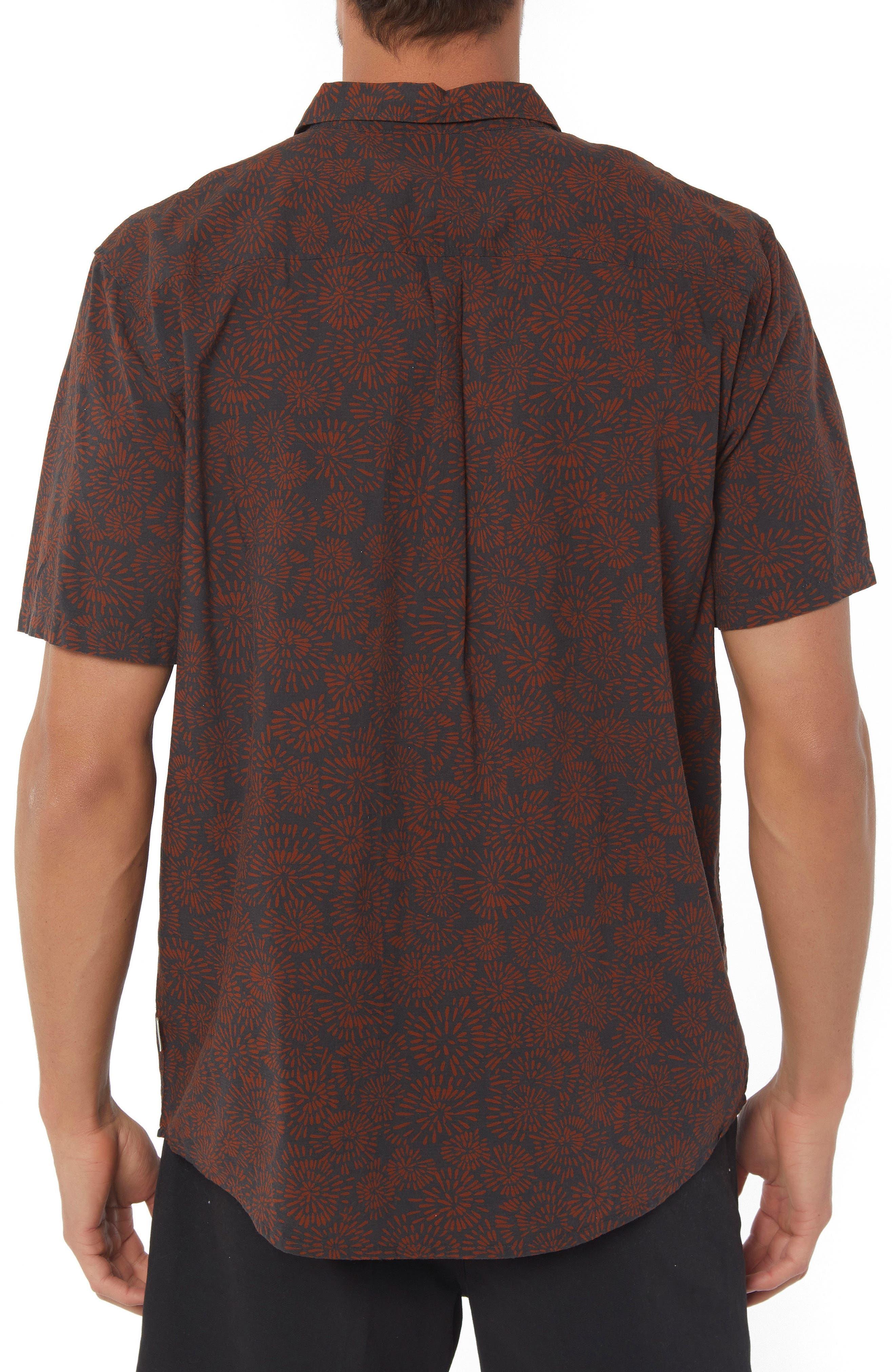 Upland Print Sport Shirt,                             Alternate thumbnail 2, color,                             Asphalt