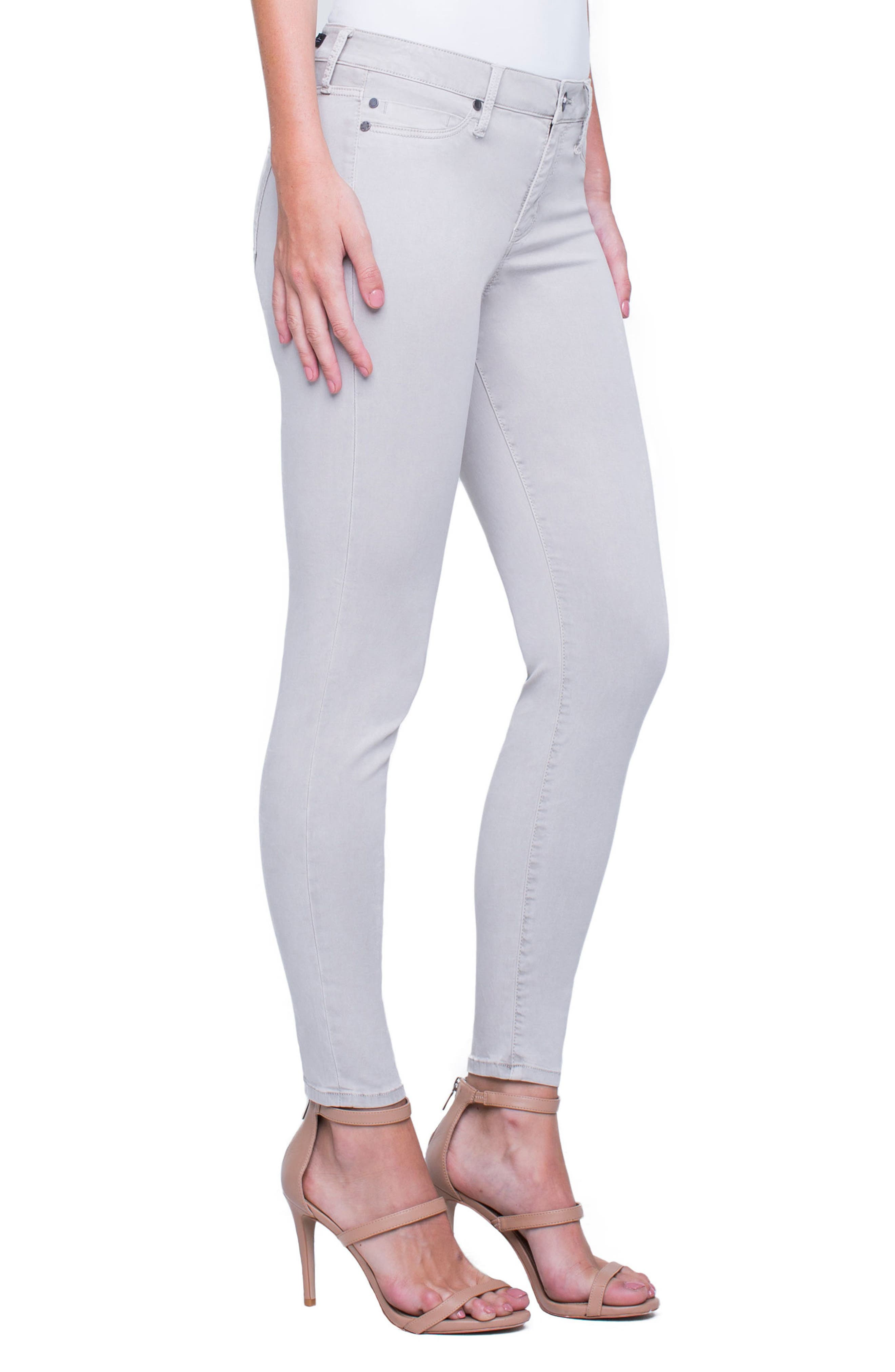 Madonna Ankle Jeans,                             Alternate thumbnail 3, color,                             Marble Ivory