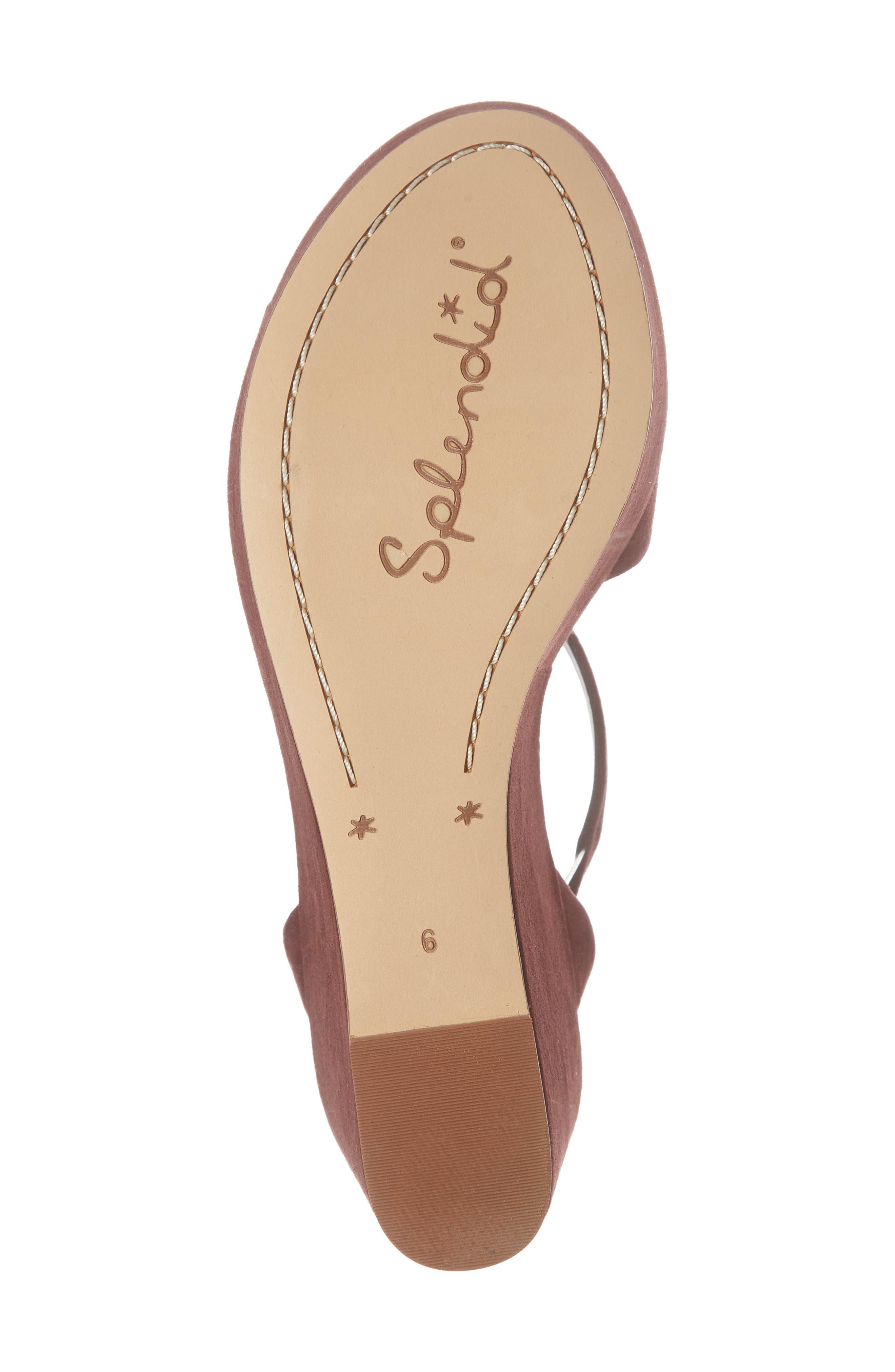 Felix Platform Wedge Sandal,                             Alternate thumbnail 6, color,                             Deep Plum Suede