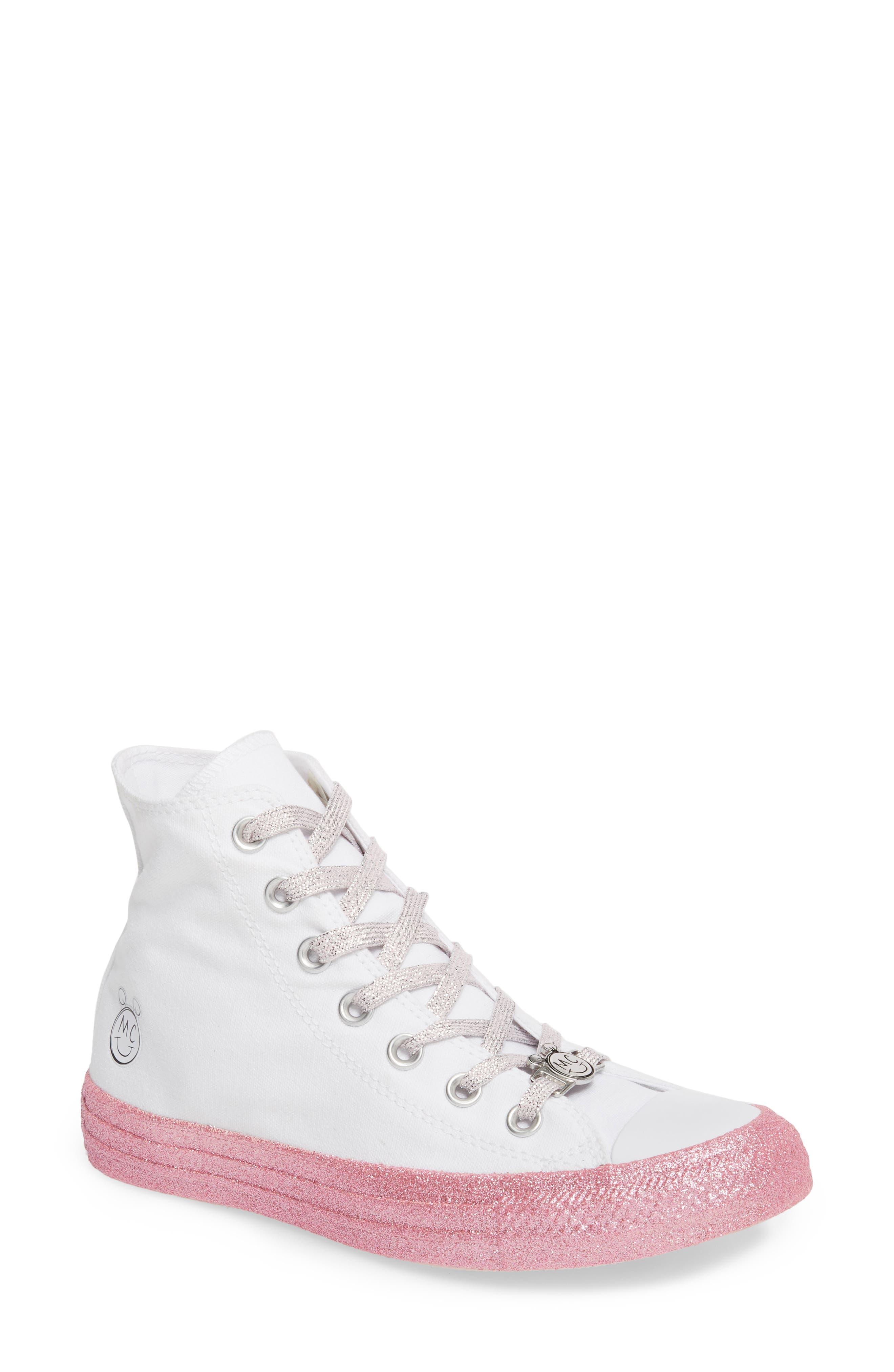 Converse x Miley Cyrus Chuck Taylor All Star Glitter High Top Sneaker (Women)