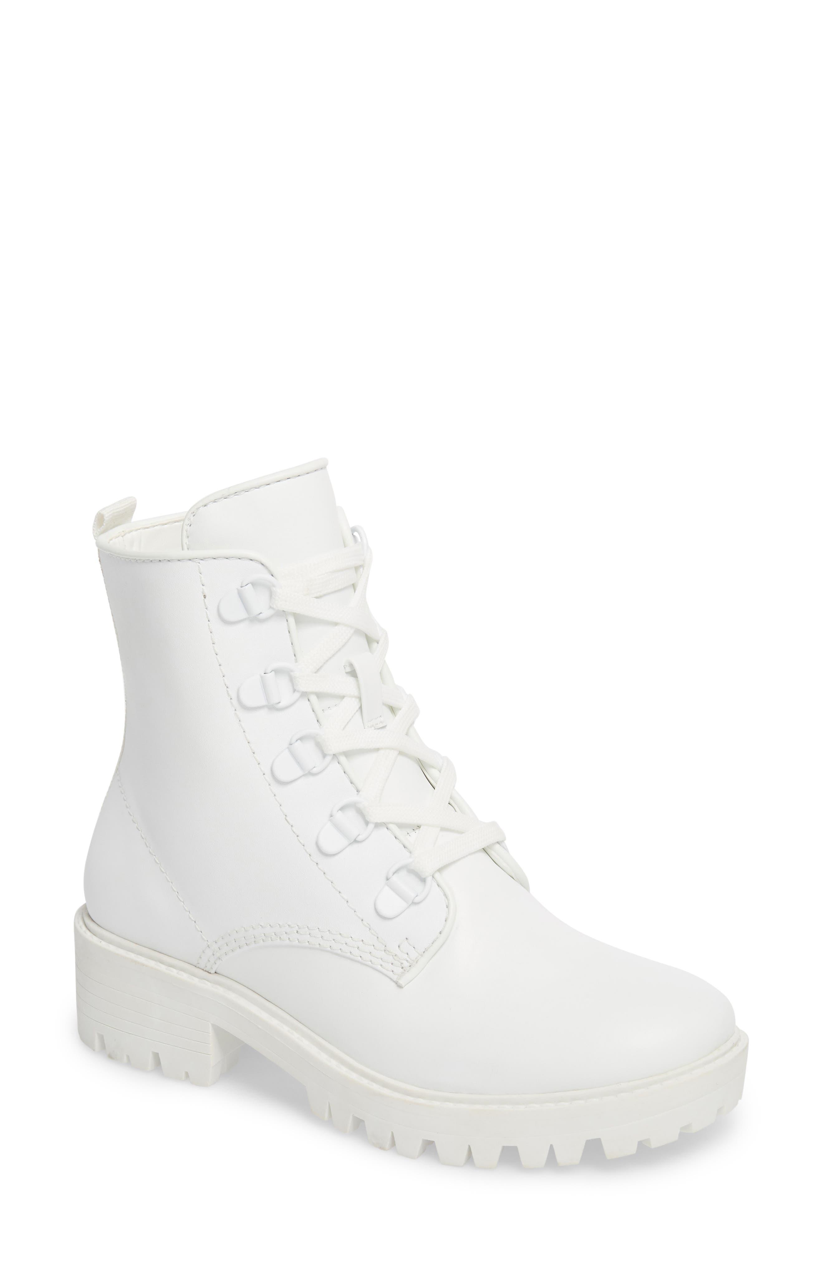 Military Boot,                             Main thumbnail 1, color,                             White/ White/ White