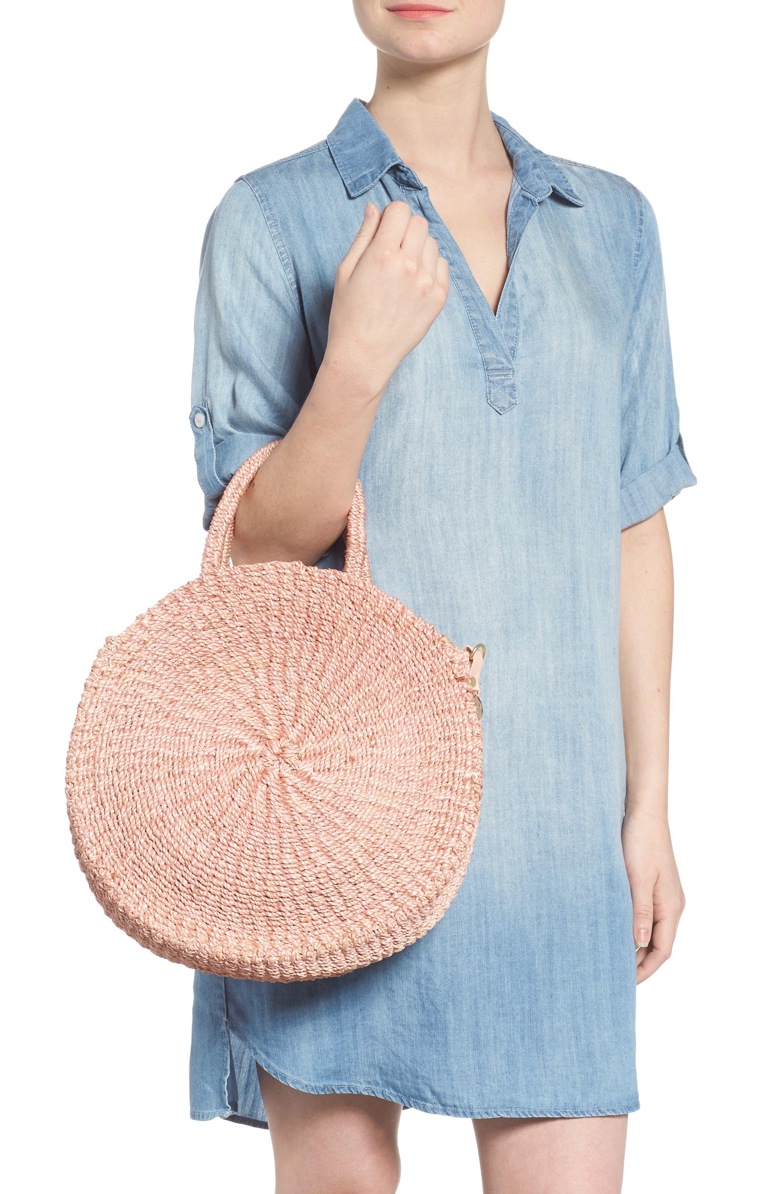 Alice Woven Sisal Straw Bag,                             Alternate thumbnail 2, color,                             Blush Woven