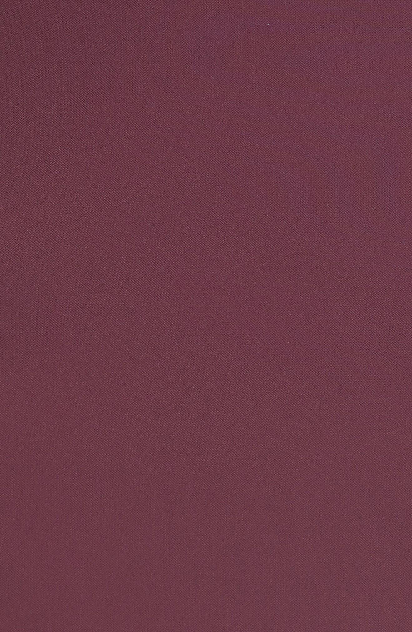 Peplum Pencil Dress,                             Alternate thumbnail 5, color,                             Deep Purple
