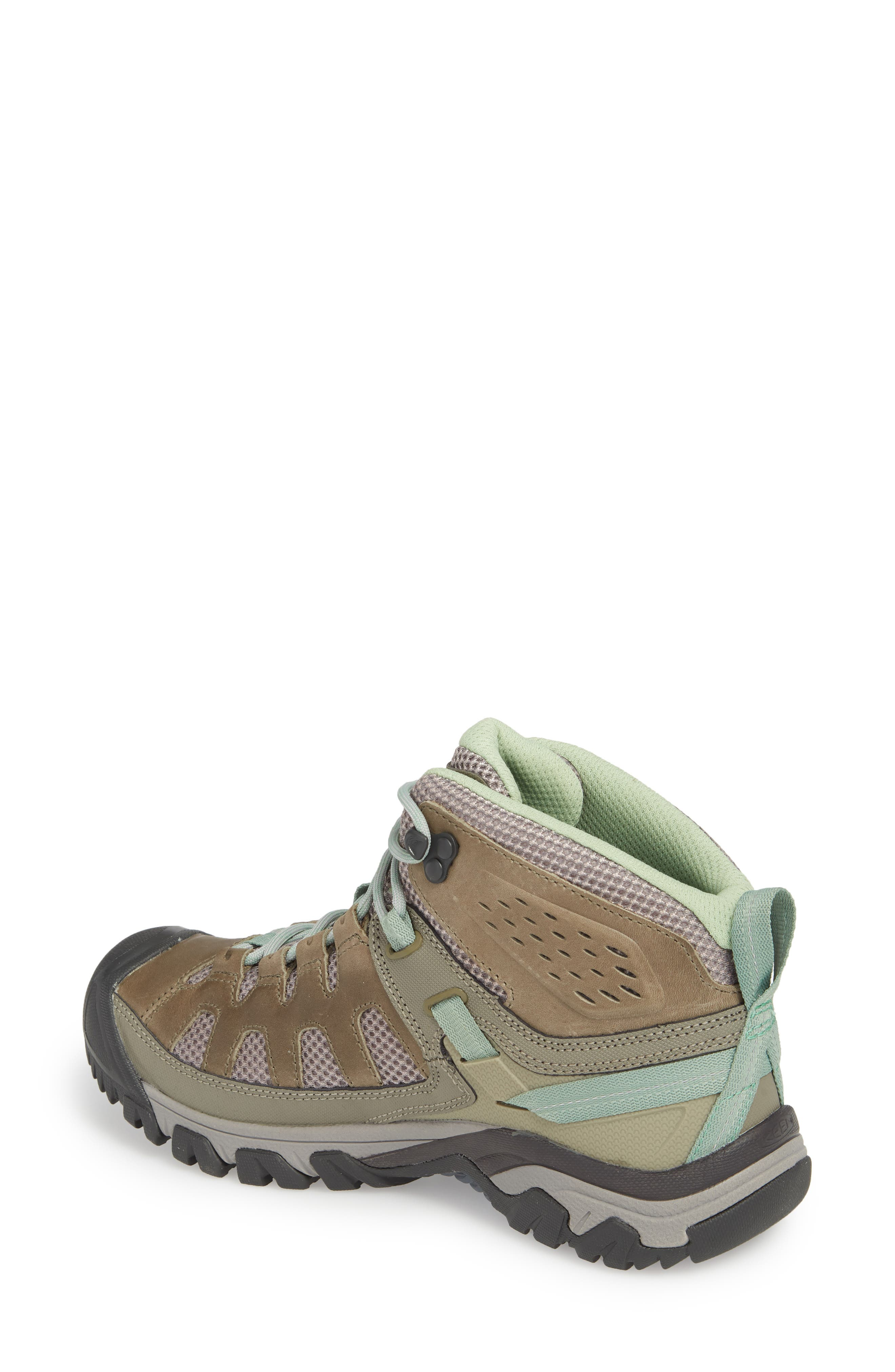 Targhee Vent Mid Hiking Shoe,                             Alternate thumbnail 2, color,                             Fumo/ Quiet Green Leather