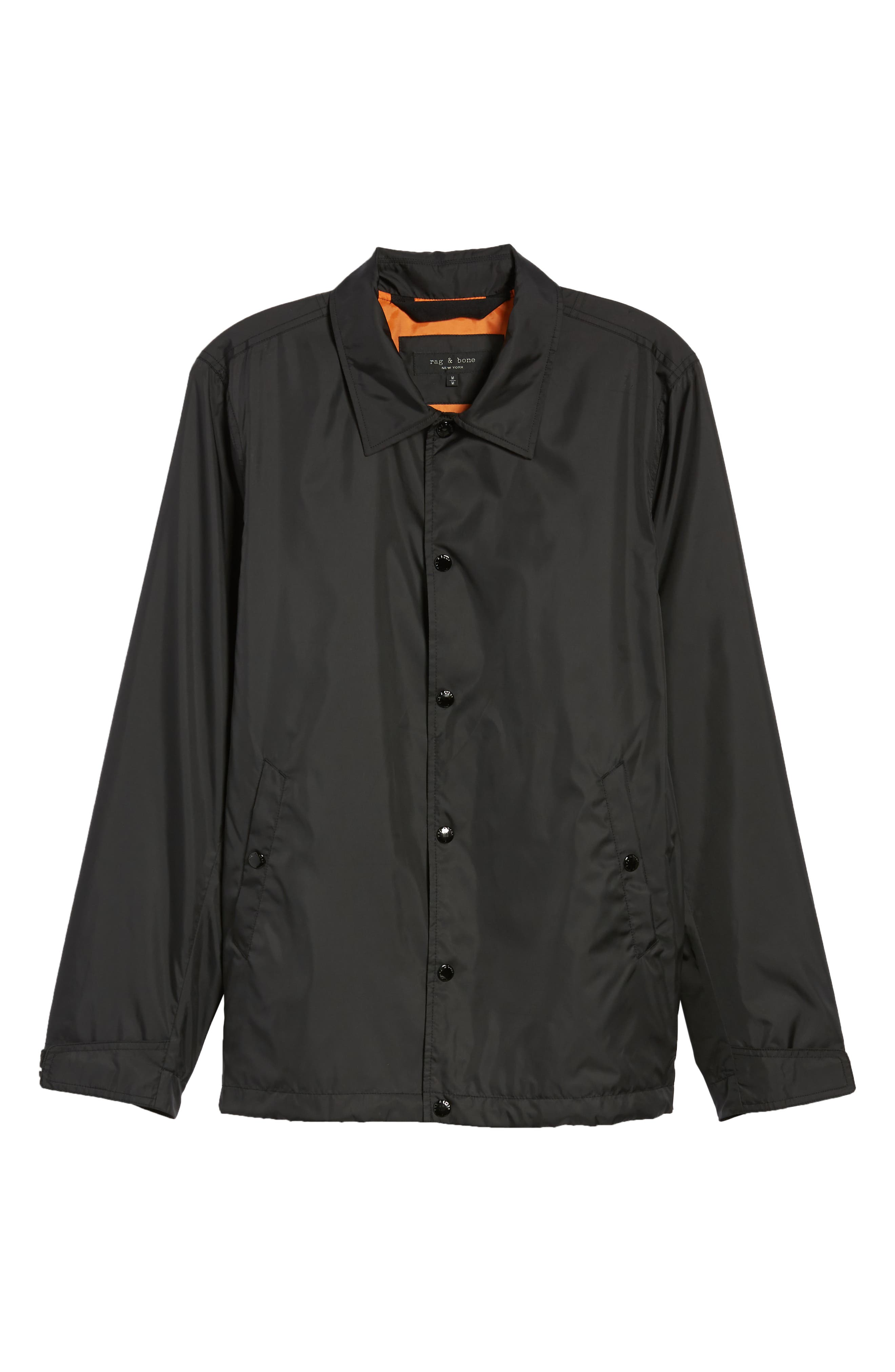 Coaches Jacket,                             Alternate thumbnail 6, color,                             Black